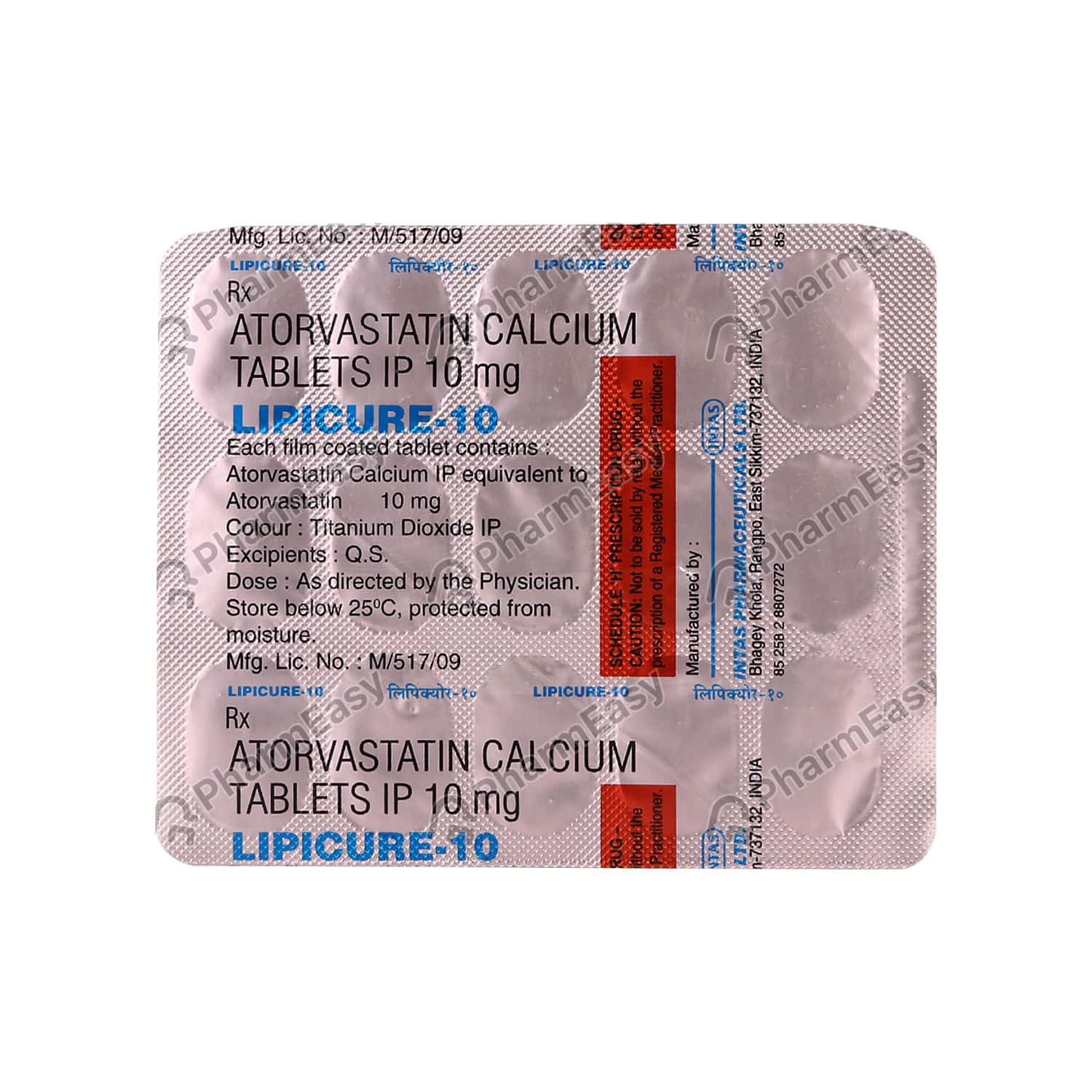 Lipicure 10mg Strip Of 15 Tablets
