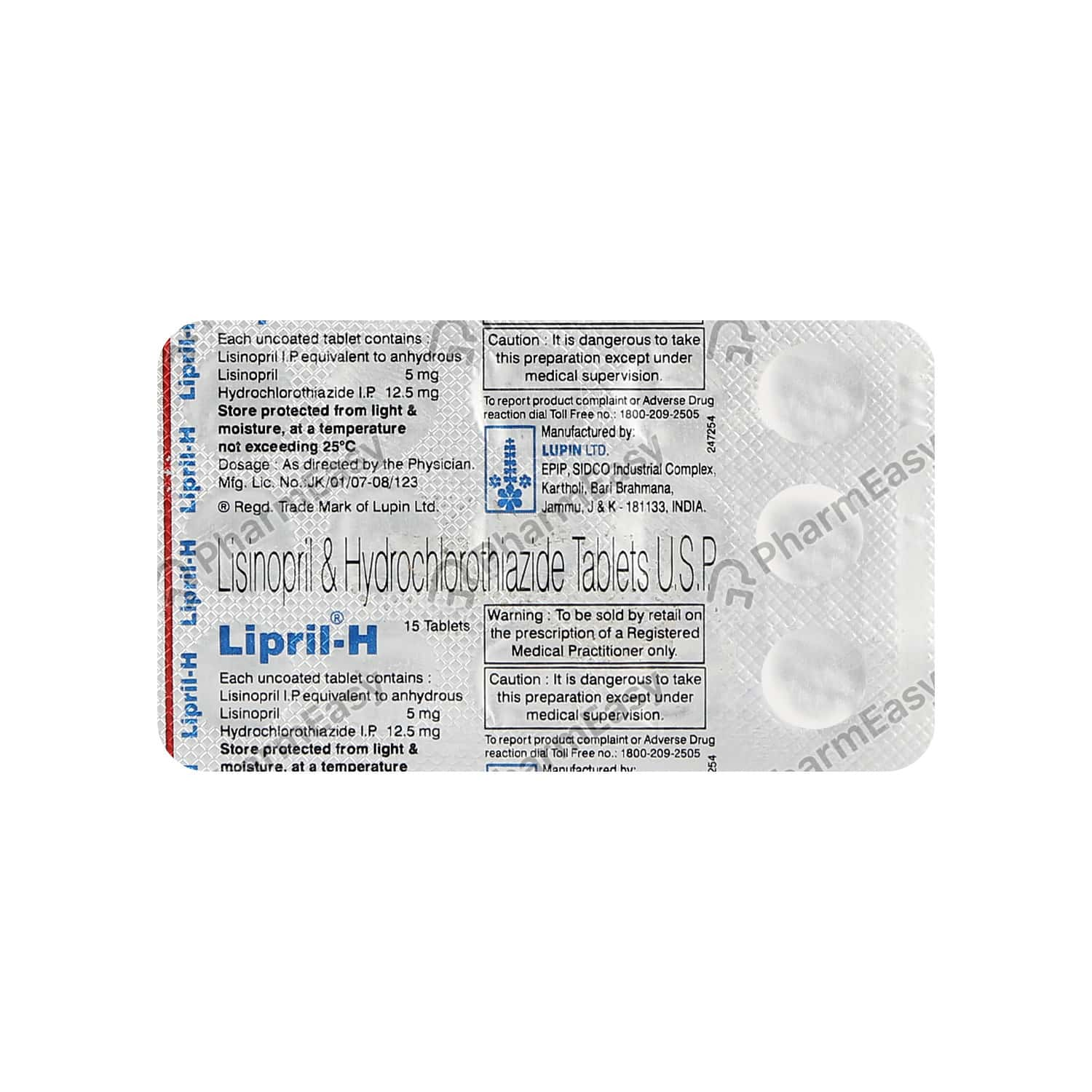 Lipril H Tablet