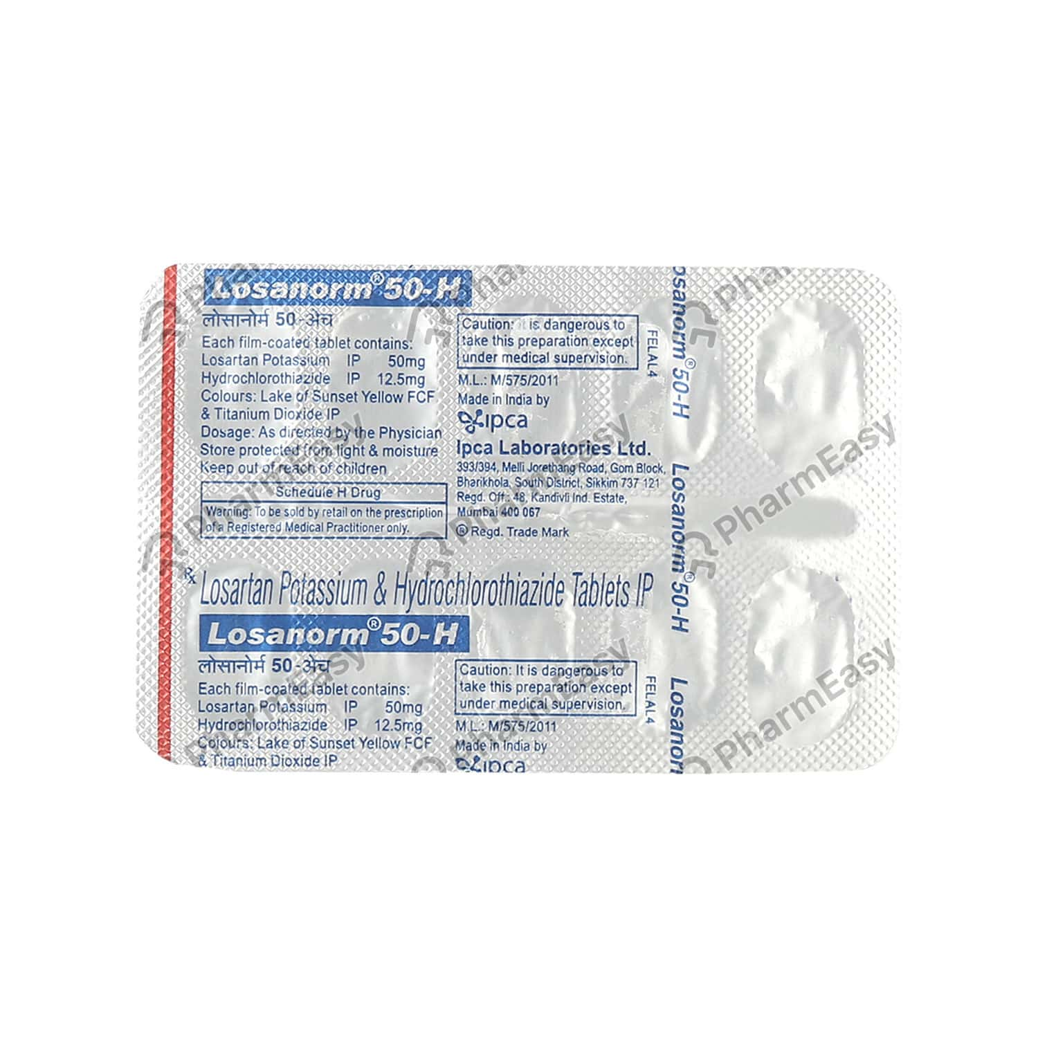 Losanorm H 50mg Tablet