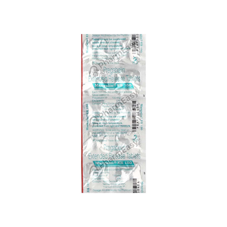 Maxgalin Er 150mg Tablet