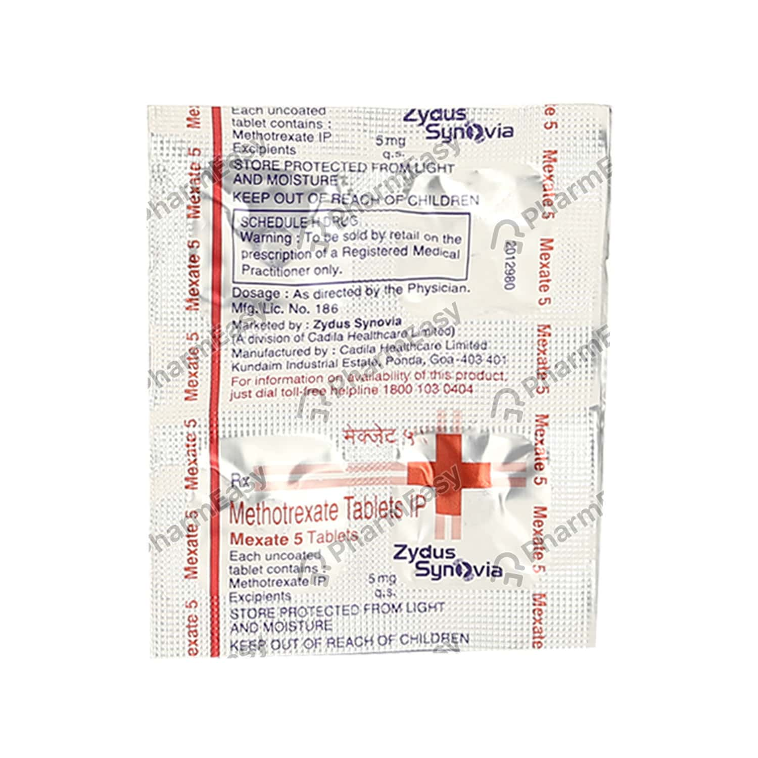 Mexate 5mg Strip Of 4 Tablets