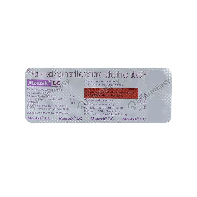 Montek Lc Strip Of 10 Tablets
