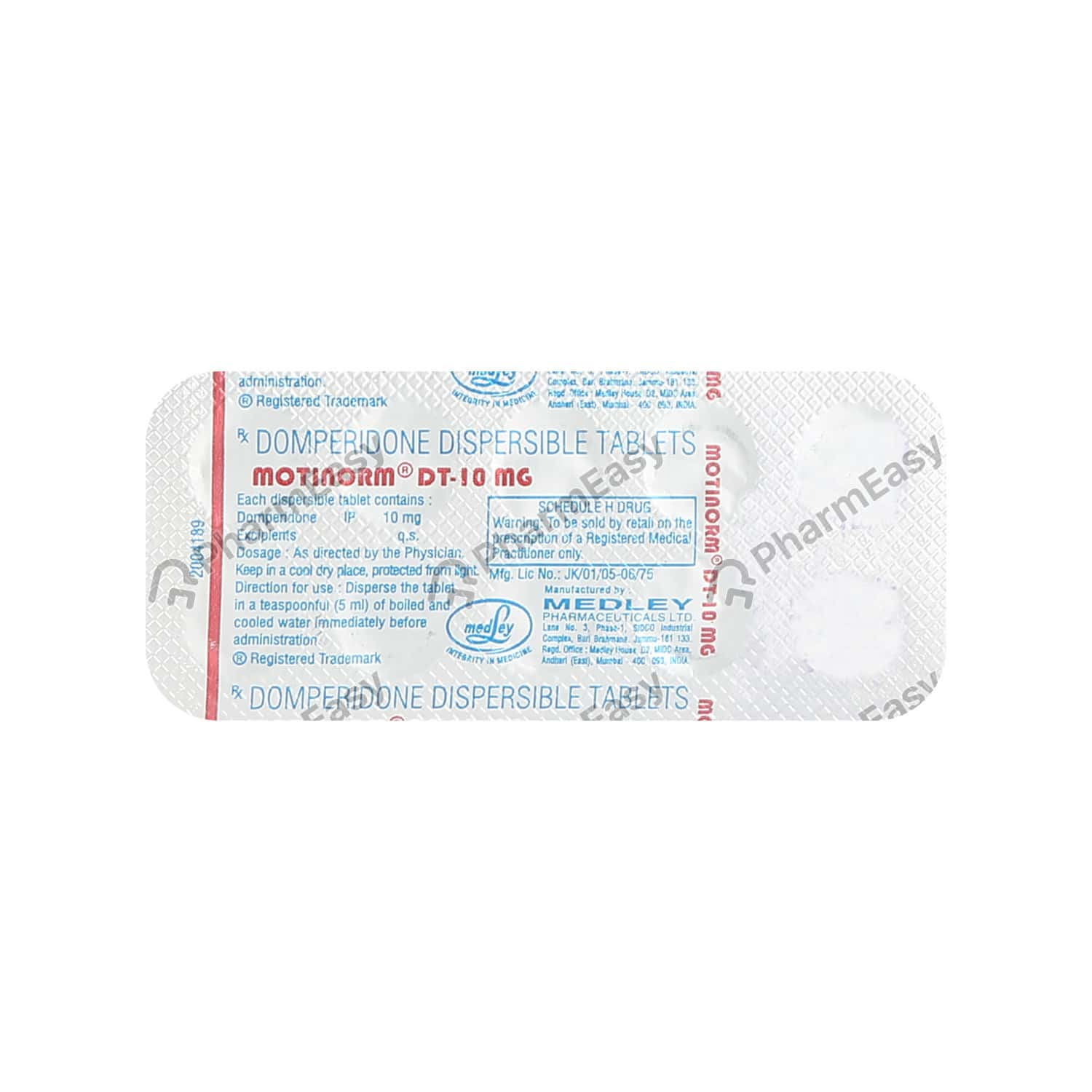 Motinorm Dt 10mg Tablet