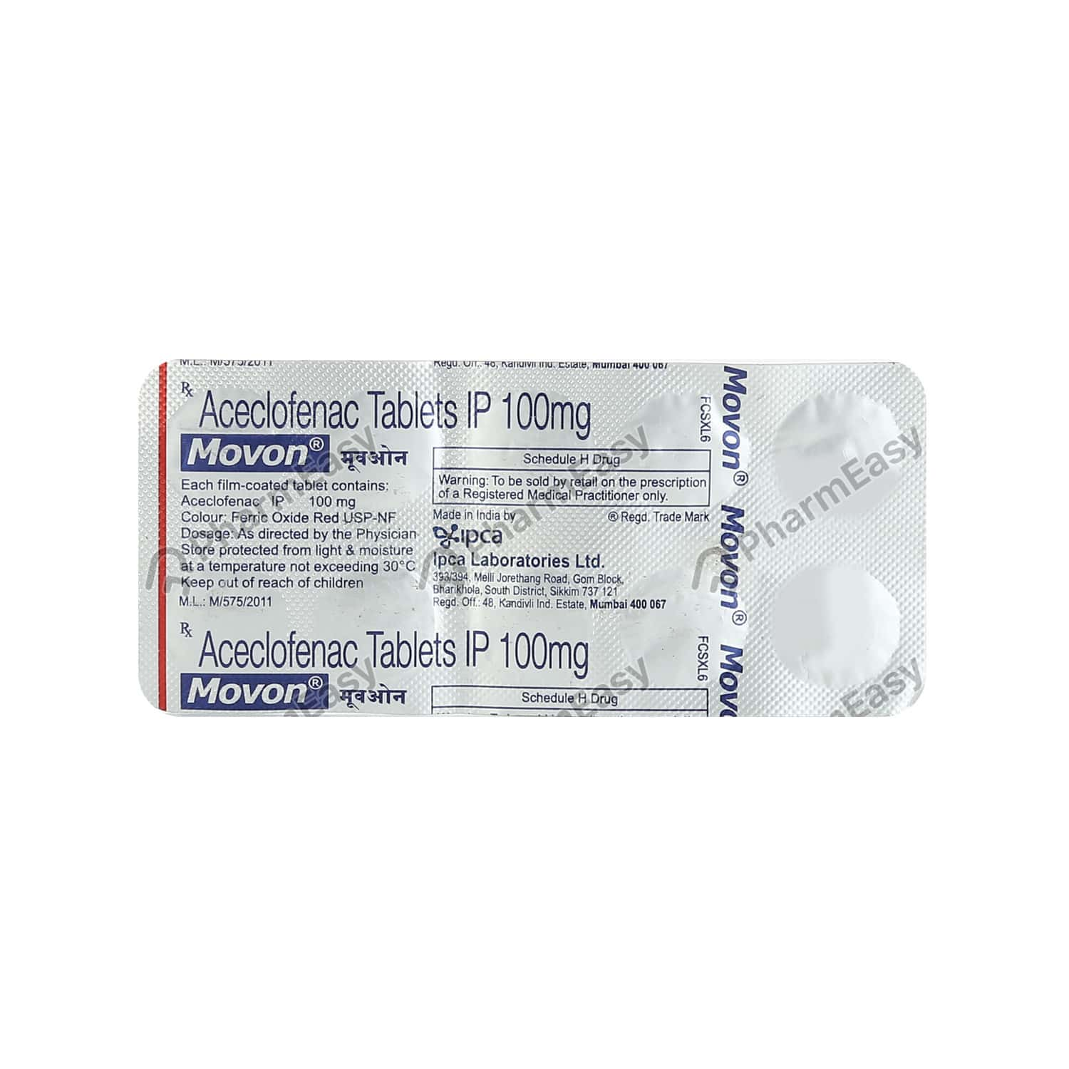 Movon 100mg Tablet