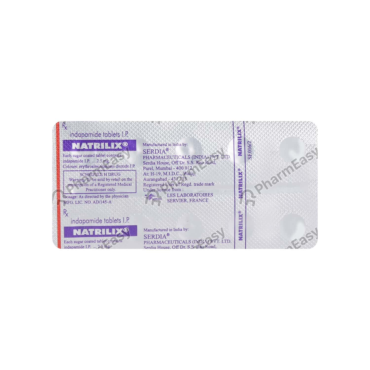 Natrilix 2.5mg Strip Of 10 Tablets