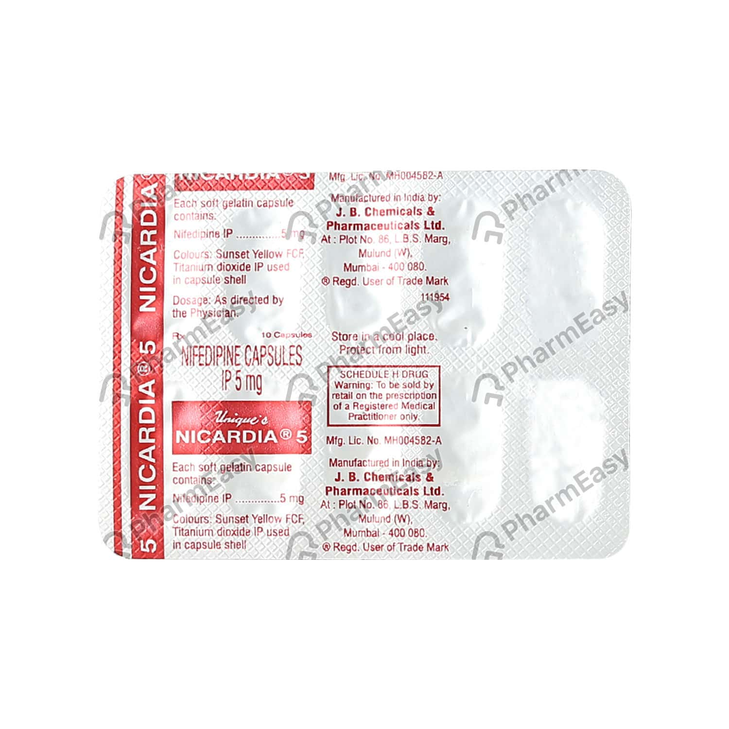 Nicardia 5mg Strip Of 10 Capsules
