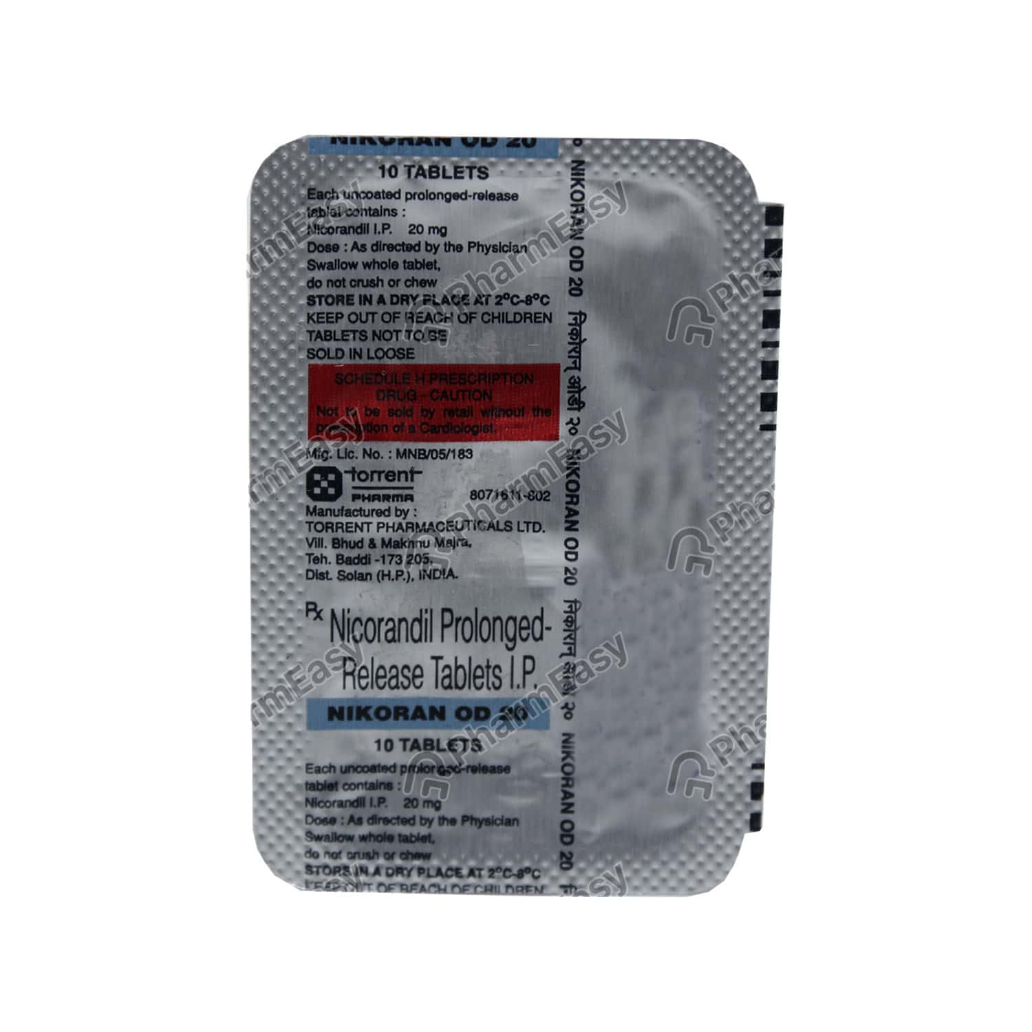 Nikoran Od 20mg Tablet