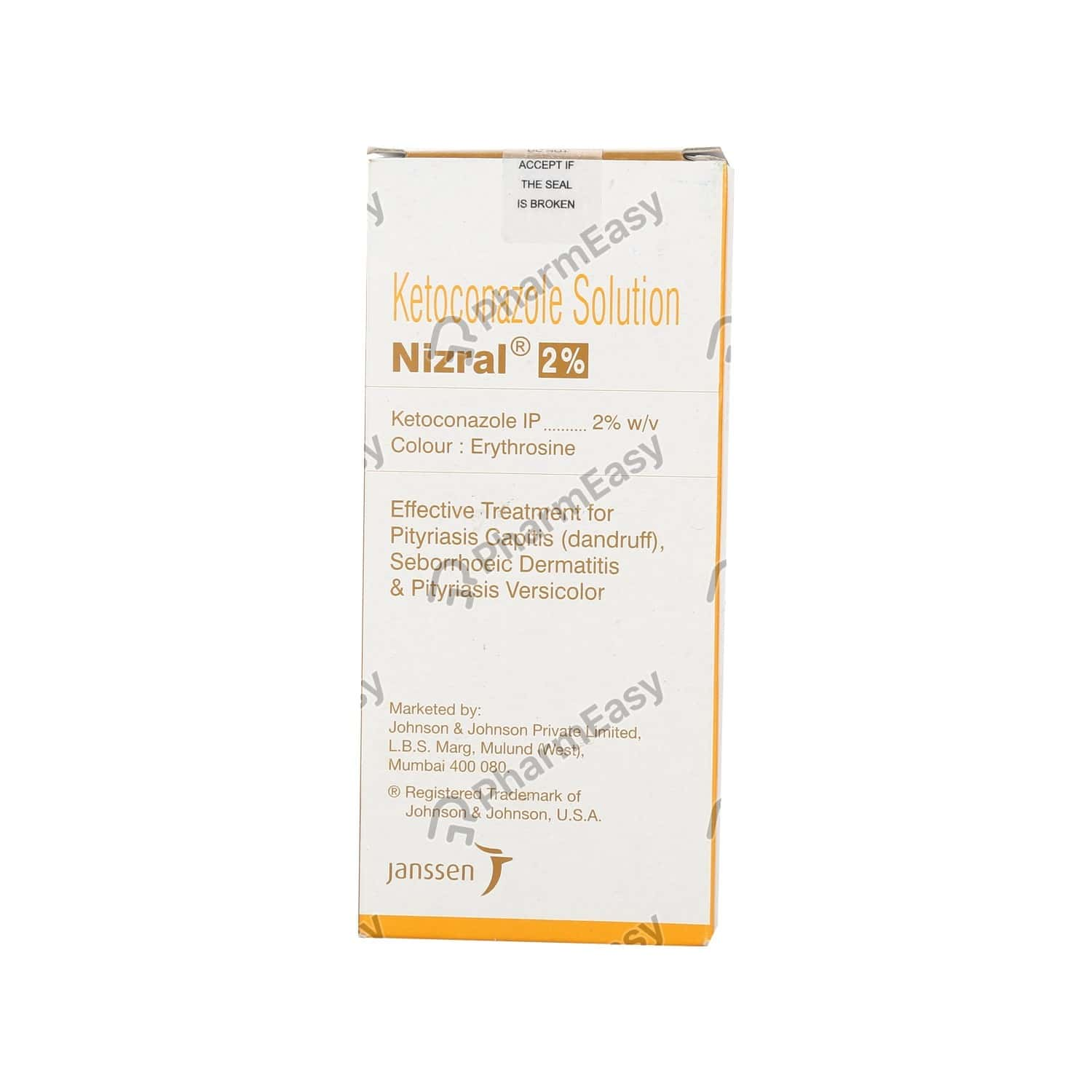 Nizral 2% Bottle Of 50ml Solution