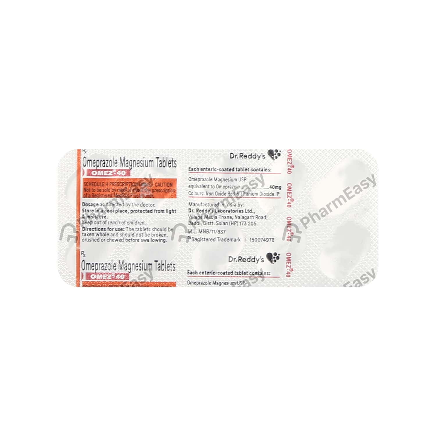 Omez 40mg Tablet