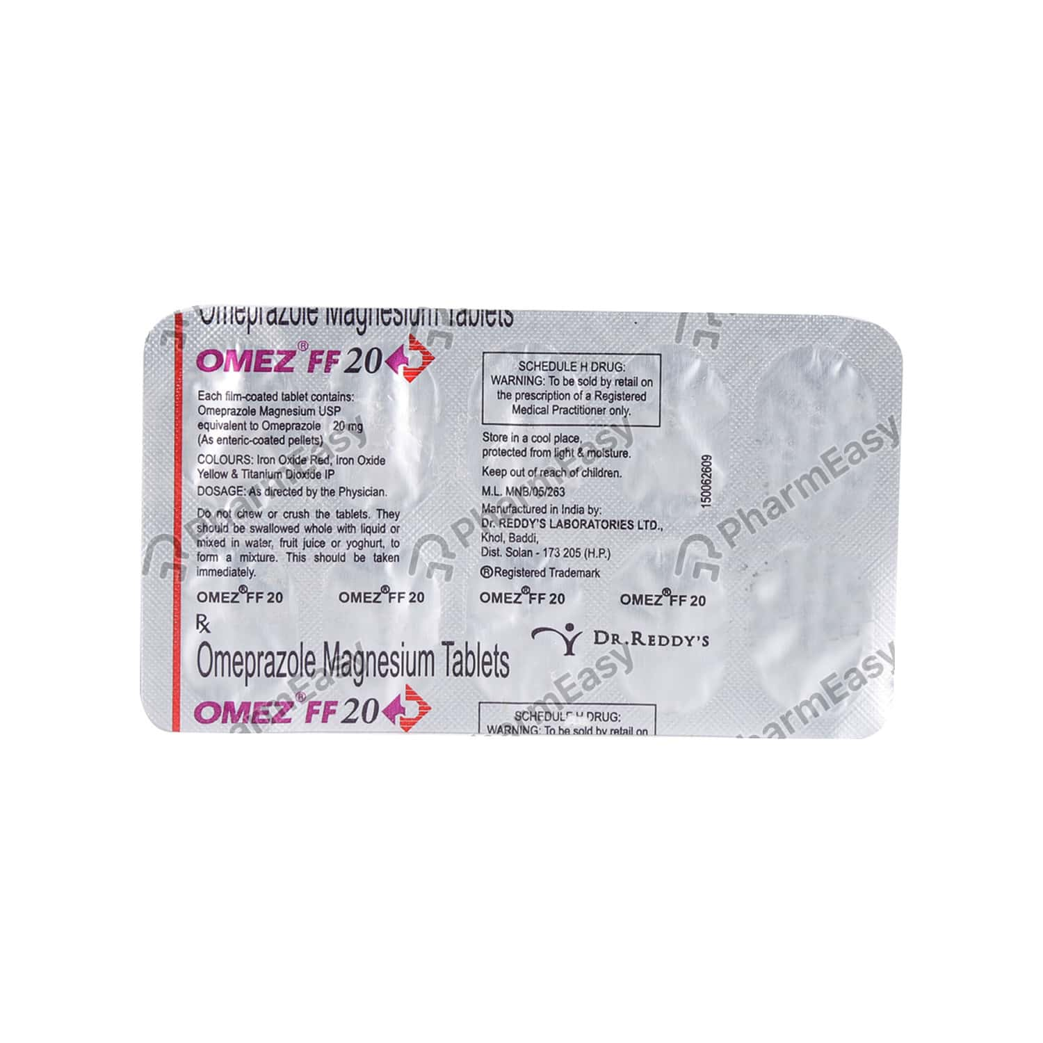 Omez Ff 20mg Strip Of 10 Tablets