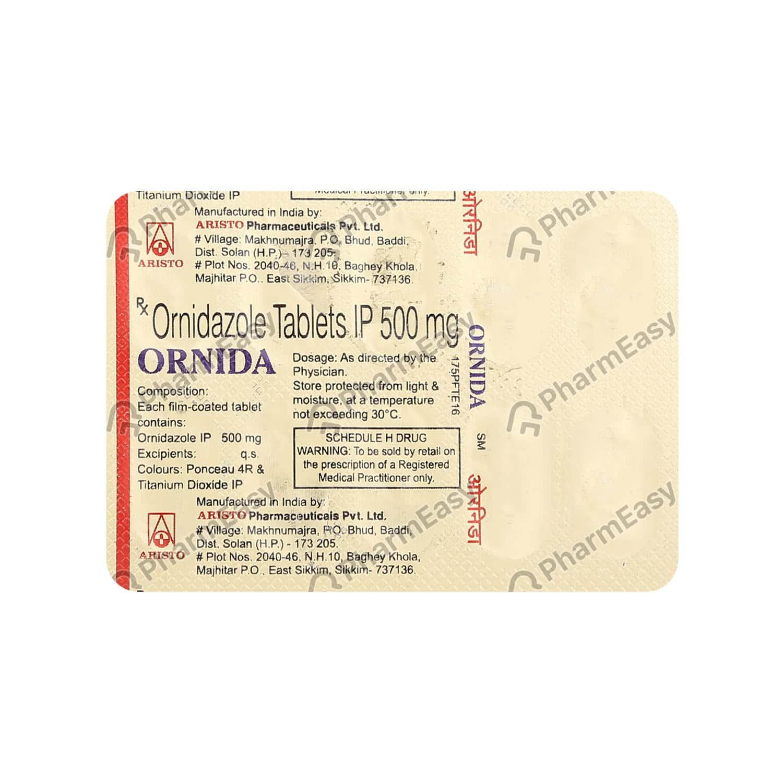 Ornida 500mg Strip Of 10 Tablets