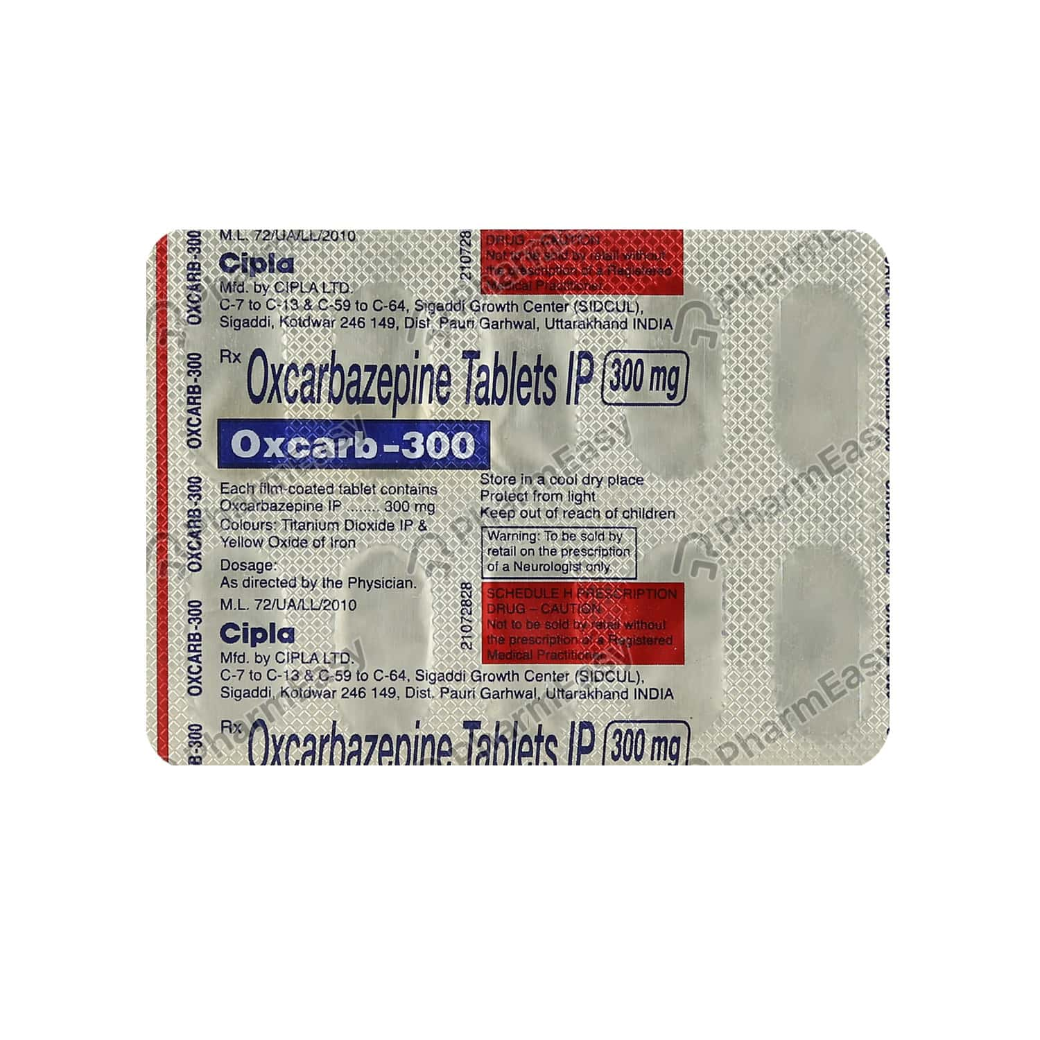 Oxcarb 300mg Tablet