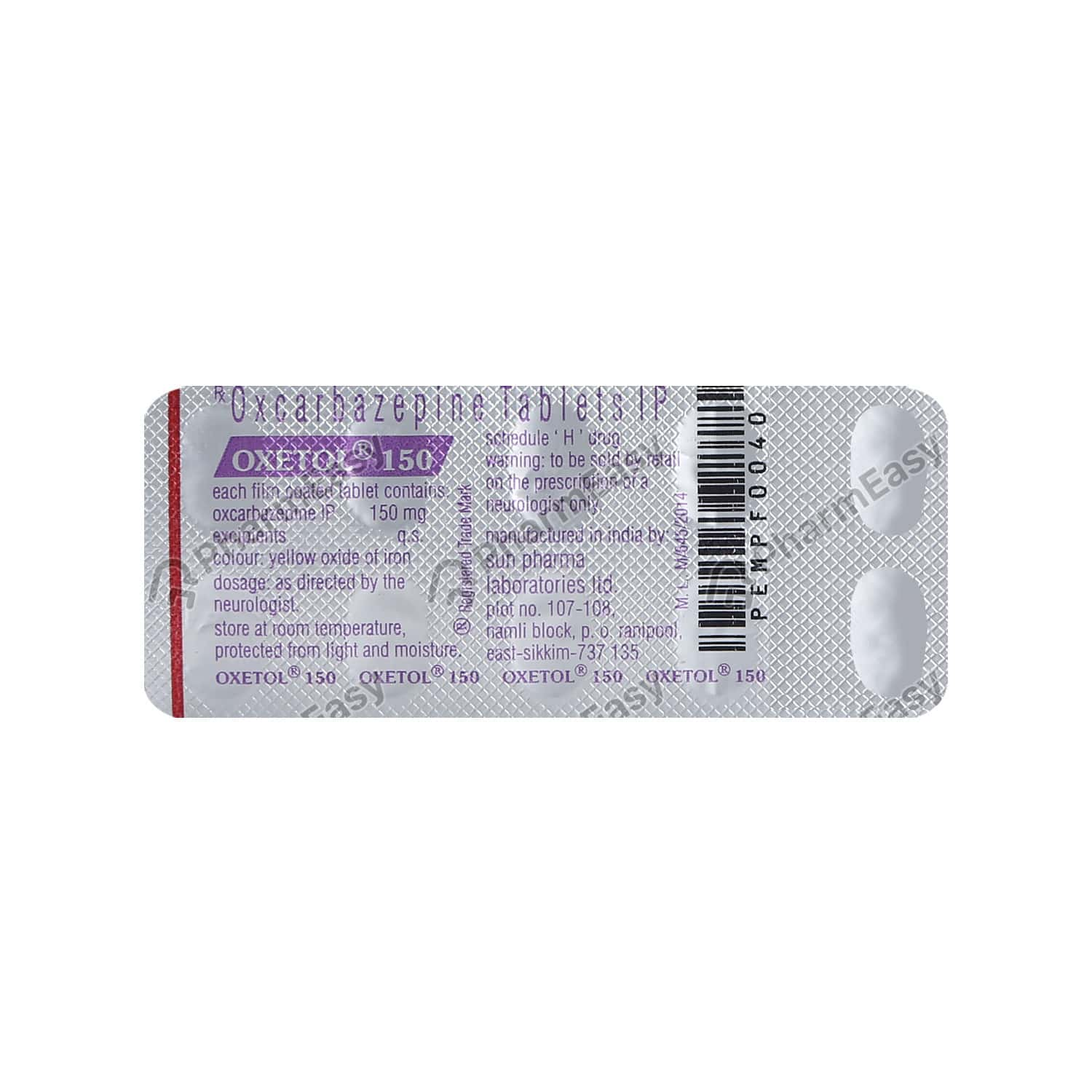 Oxetol 150mg Tablet