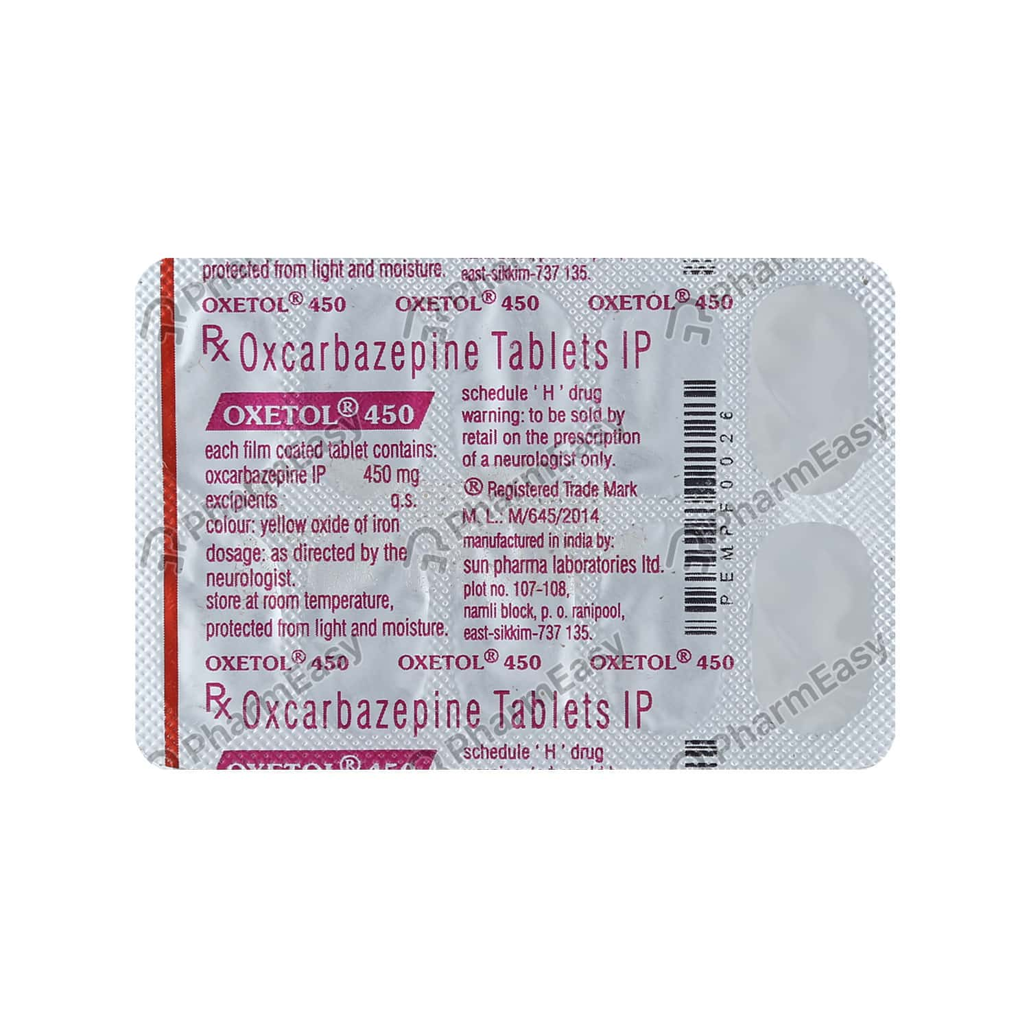 Oxetol 450mg Tablet