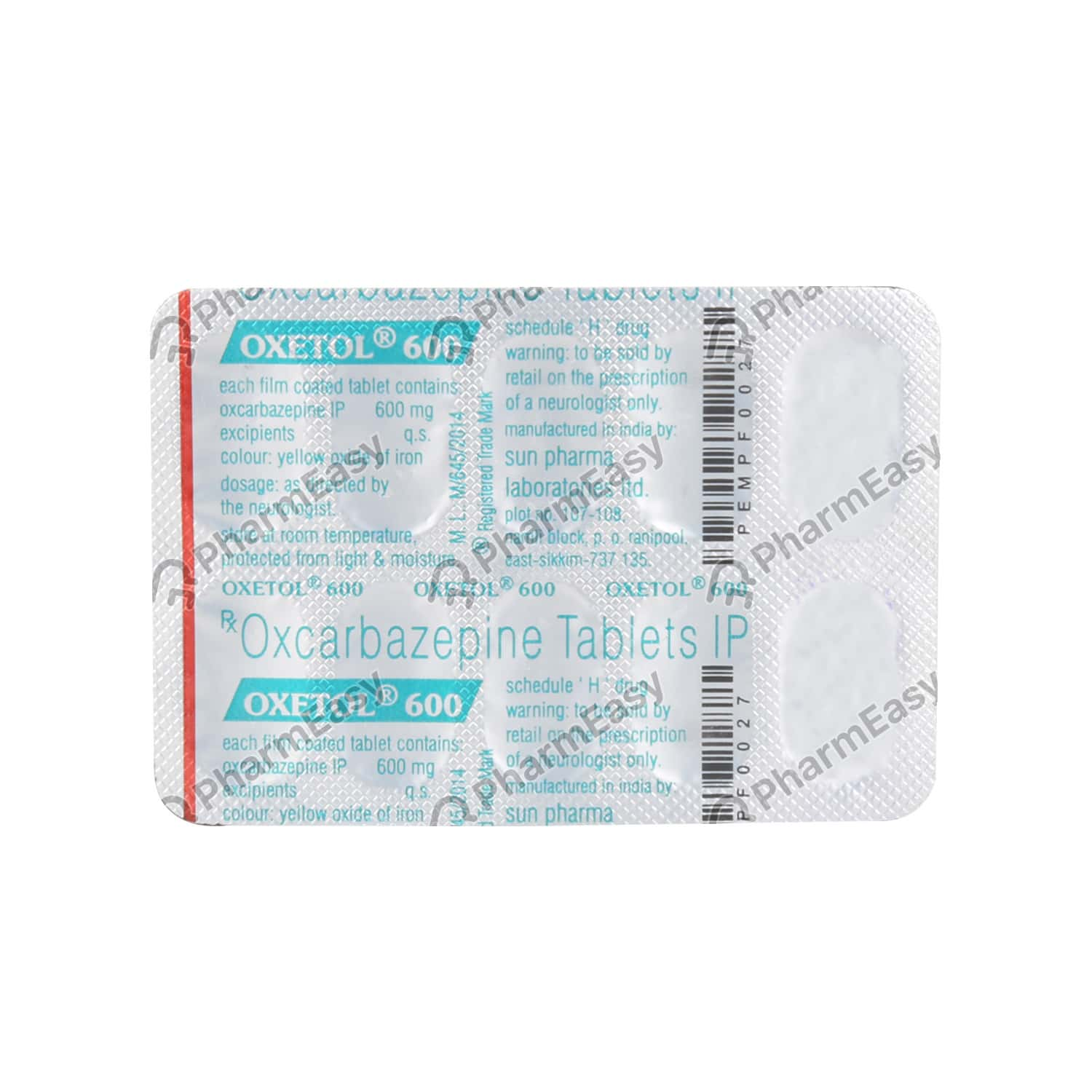 Oxetol 600mg Tablet