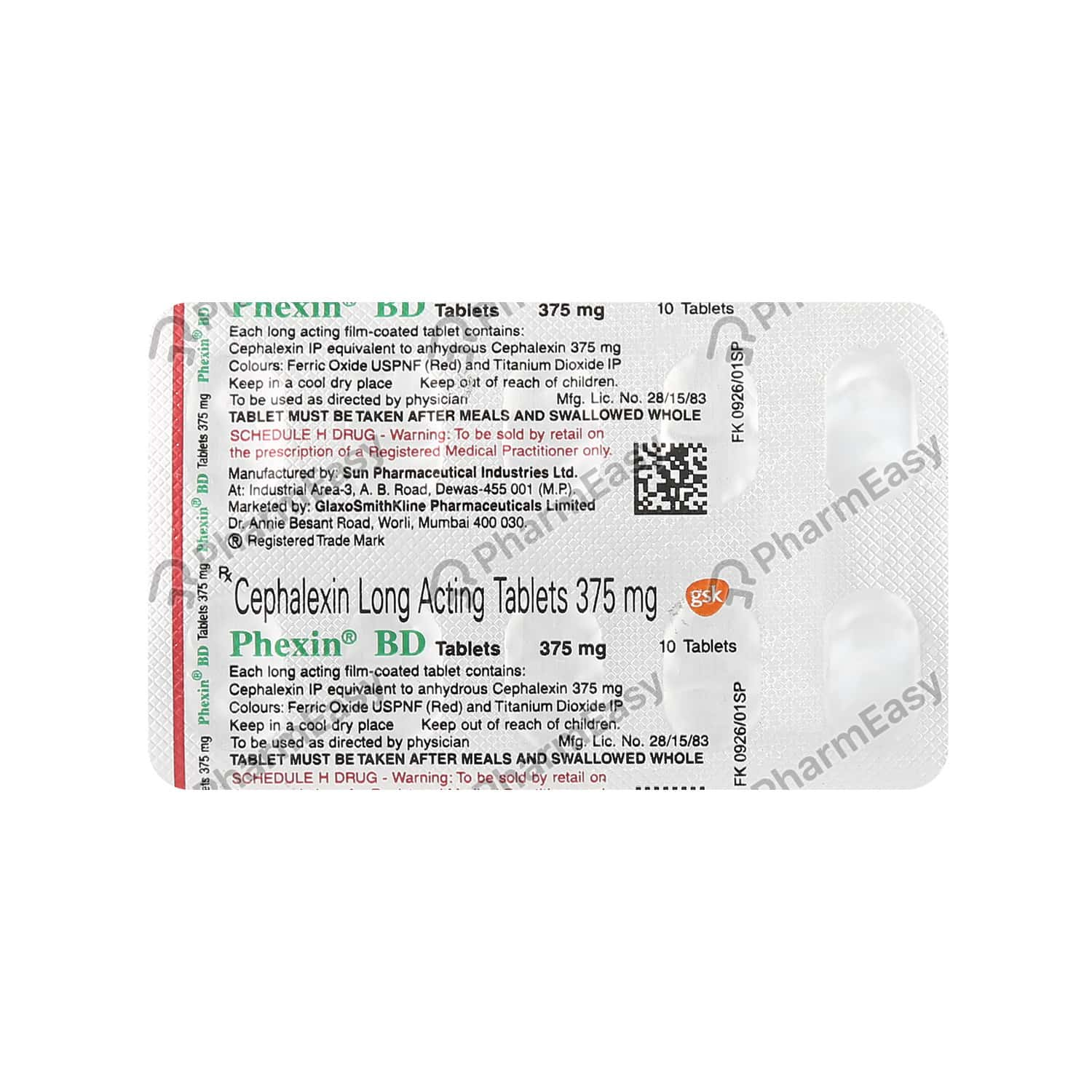 Phexin Bd 375mg Tablet