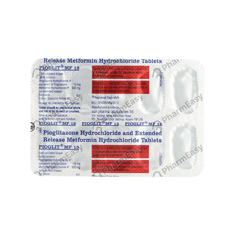 Pioglit Mf 15mg Tablet