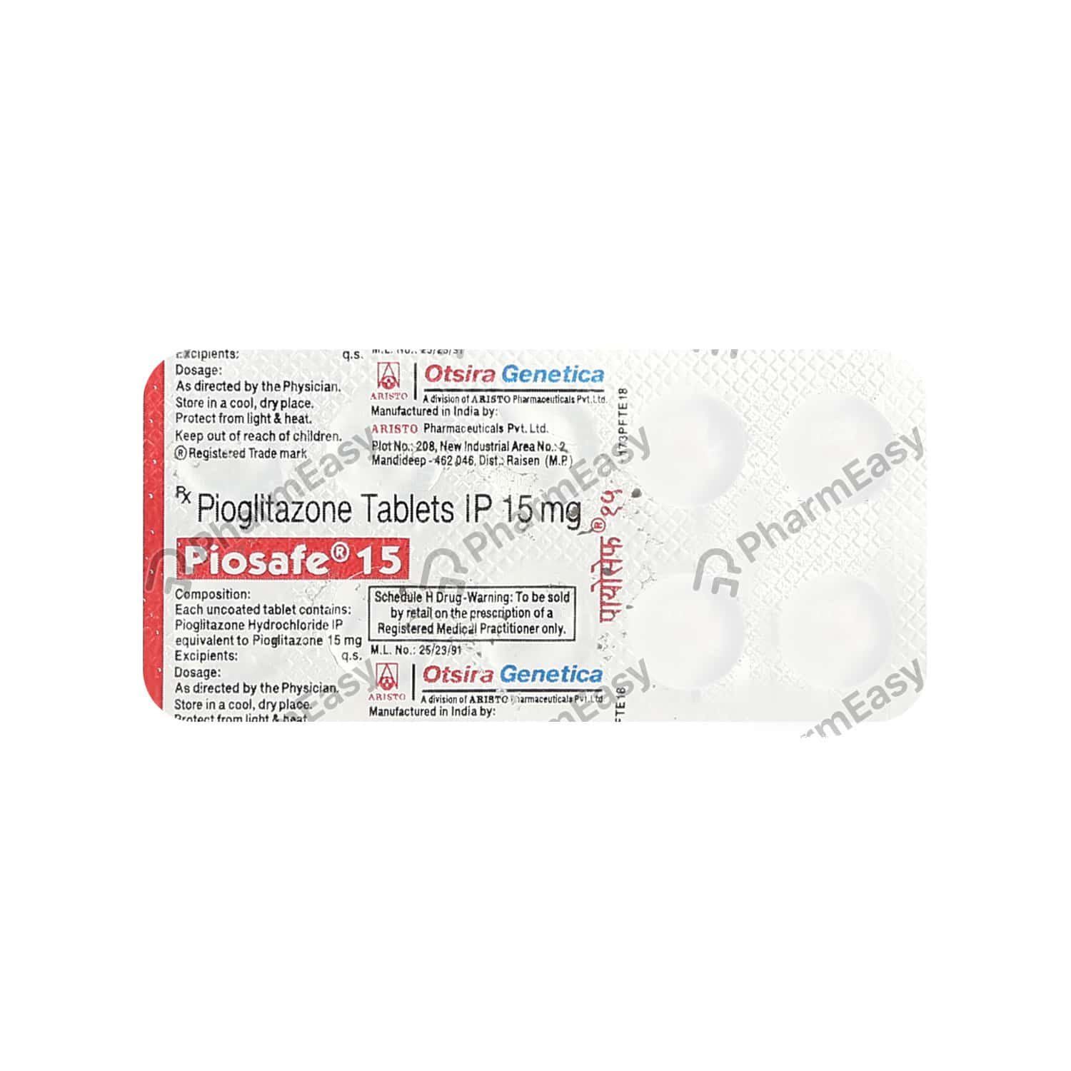 Piosafe 15mg Tablet