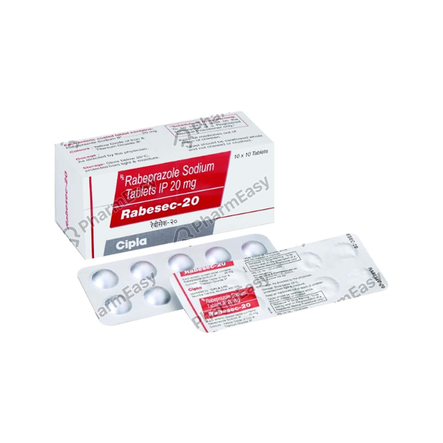 Rabesec 20mg Strip Of 10 Tablets