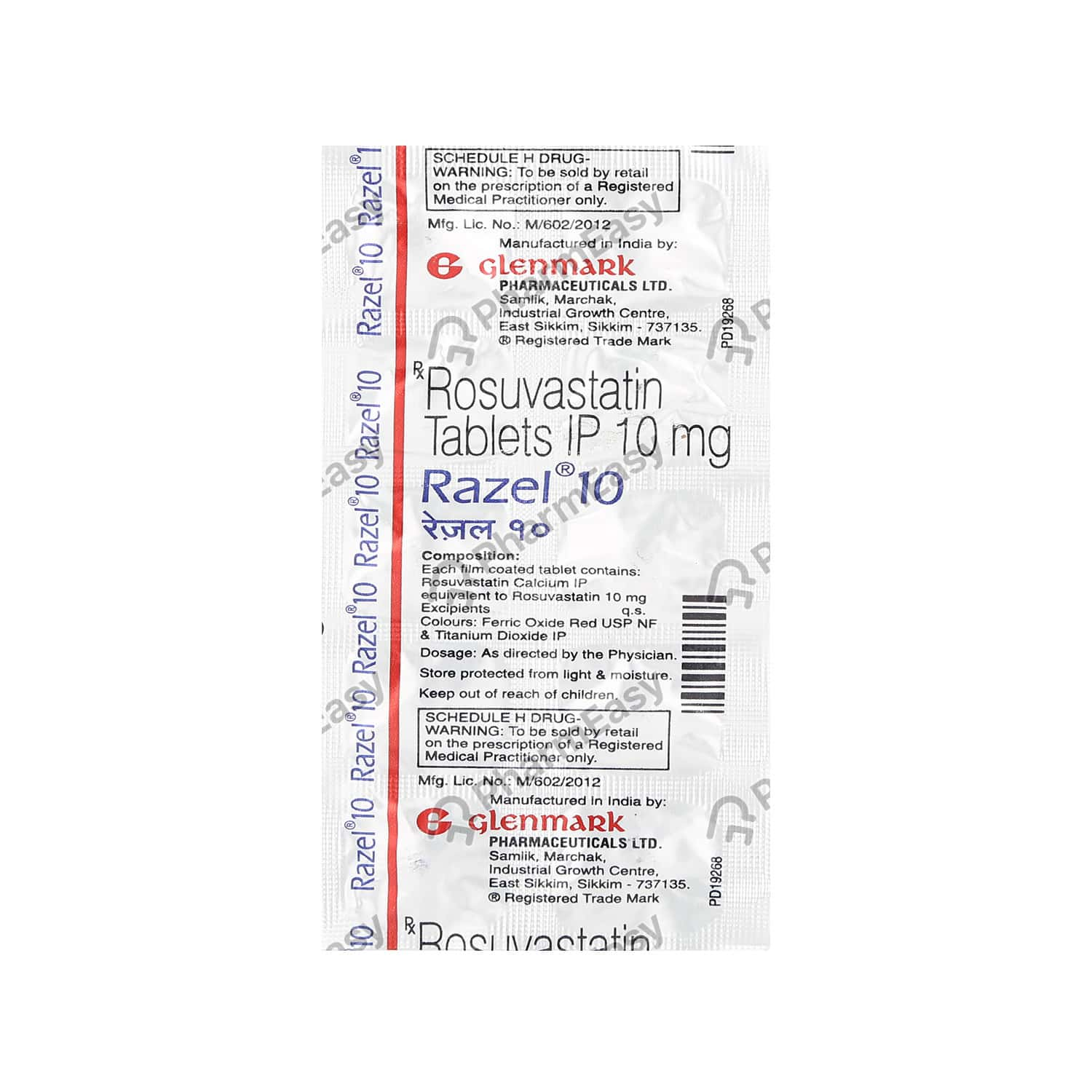 Razel 10mg Strip Of 10 Tablets