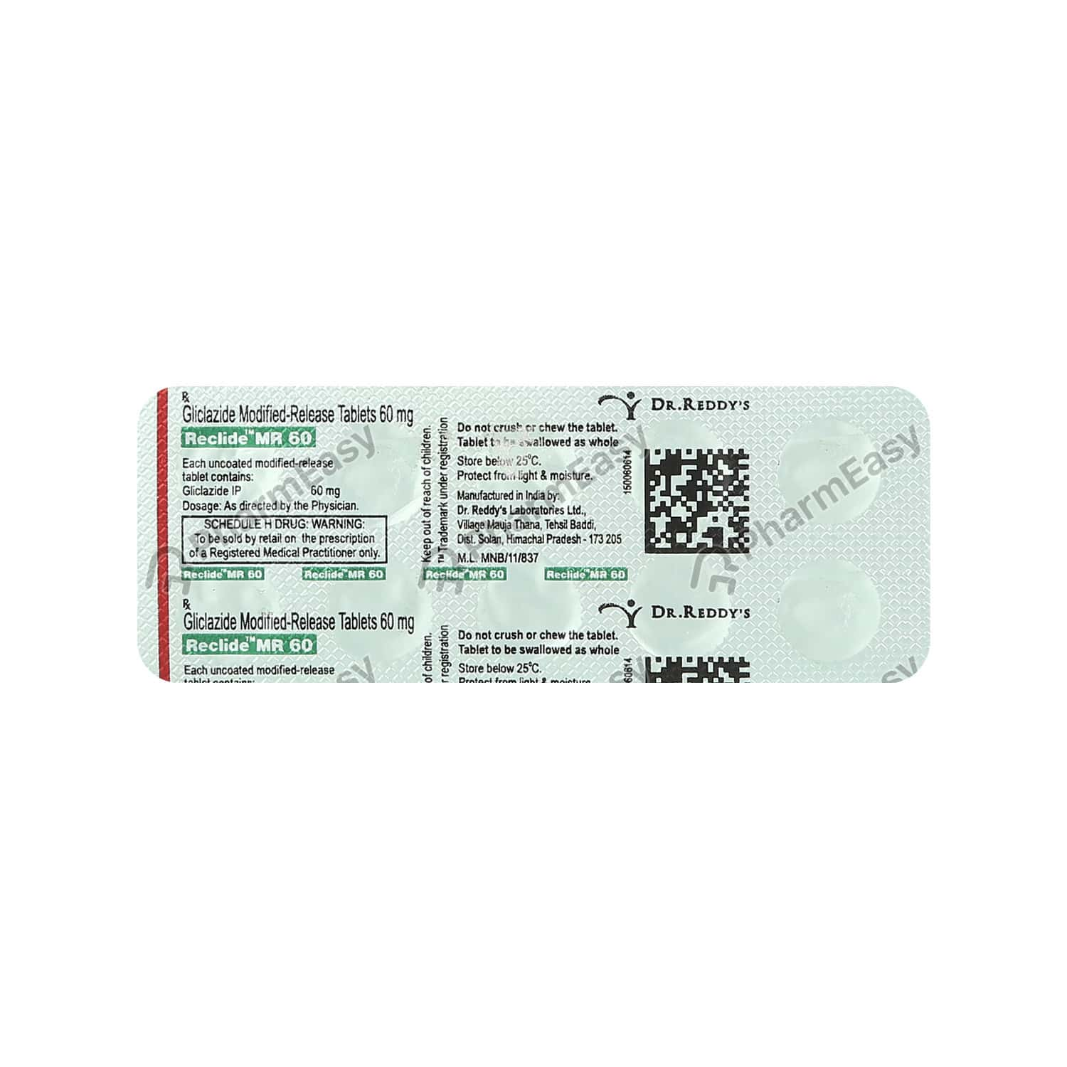 Reclide Mr 60mg Tablet