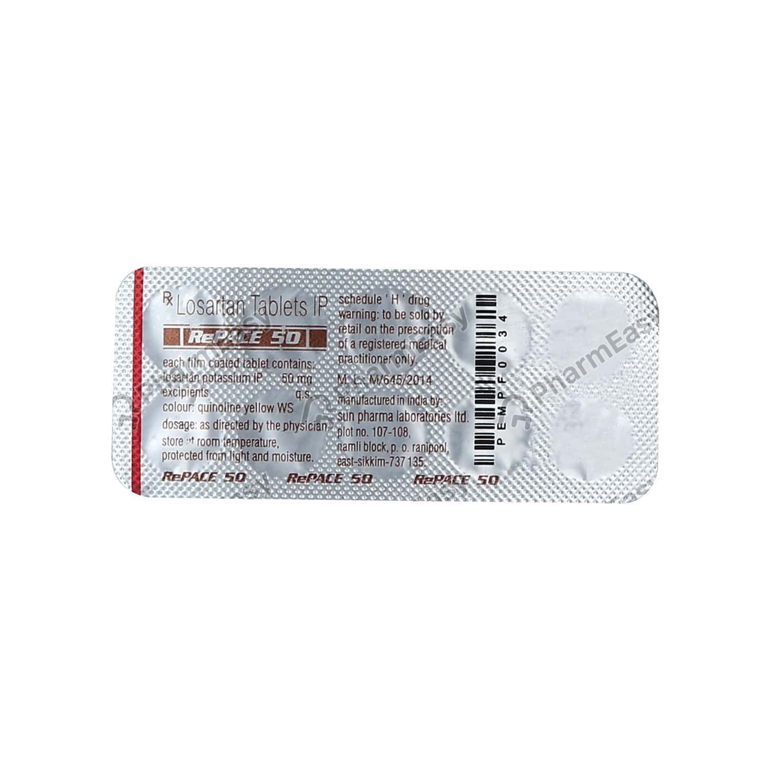 Repace 50mg Strip Of 10 Tablets