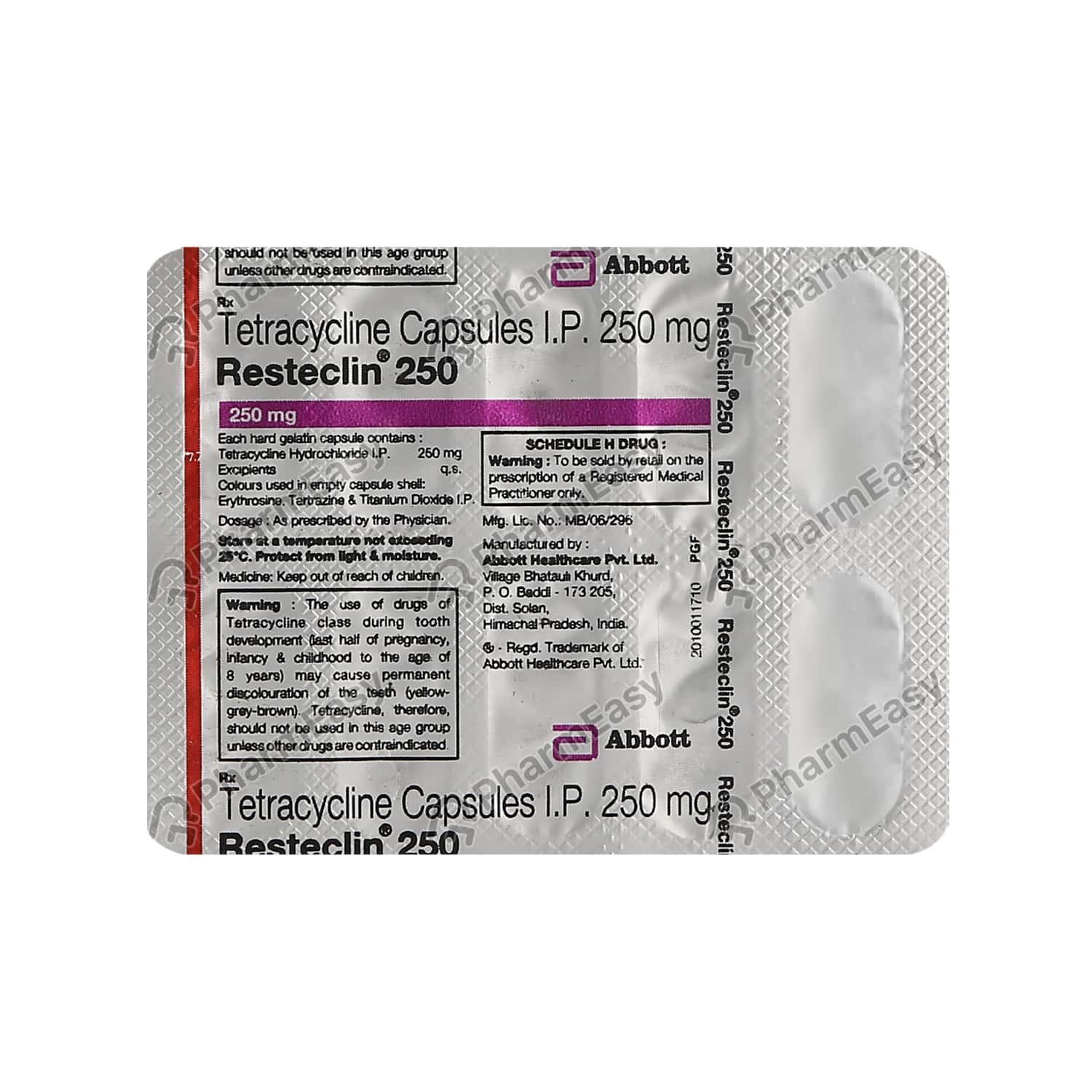 Resteclin 250mg Strip Of 10 Capsules