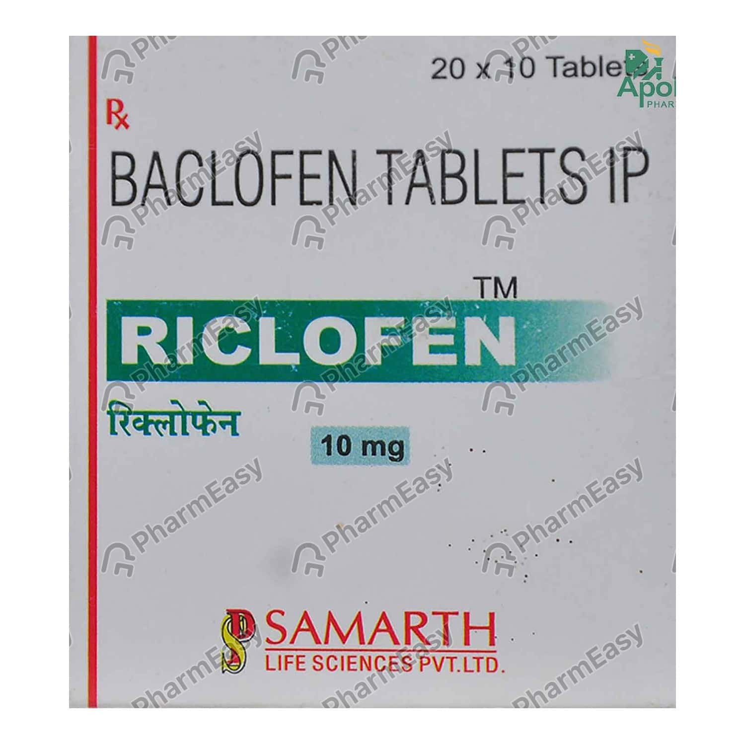 Riclofen 10mg Strip Of 10 Tablets