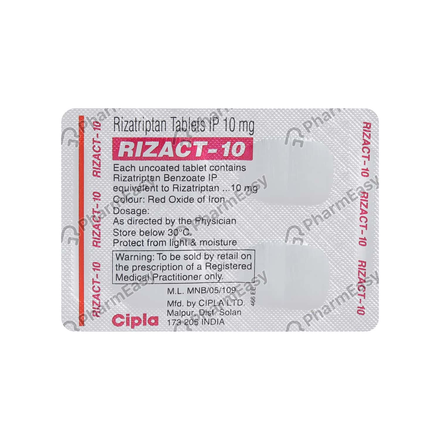 Rizact 10mg Tablet