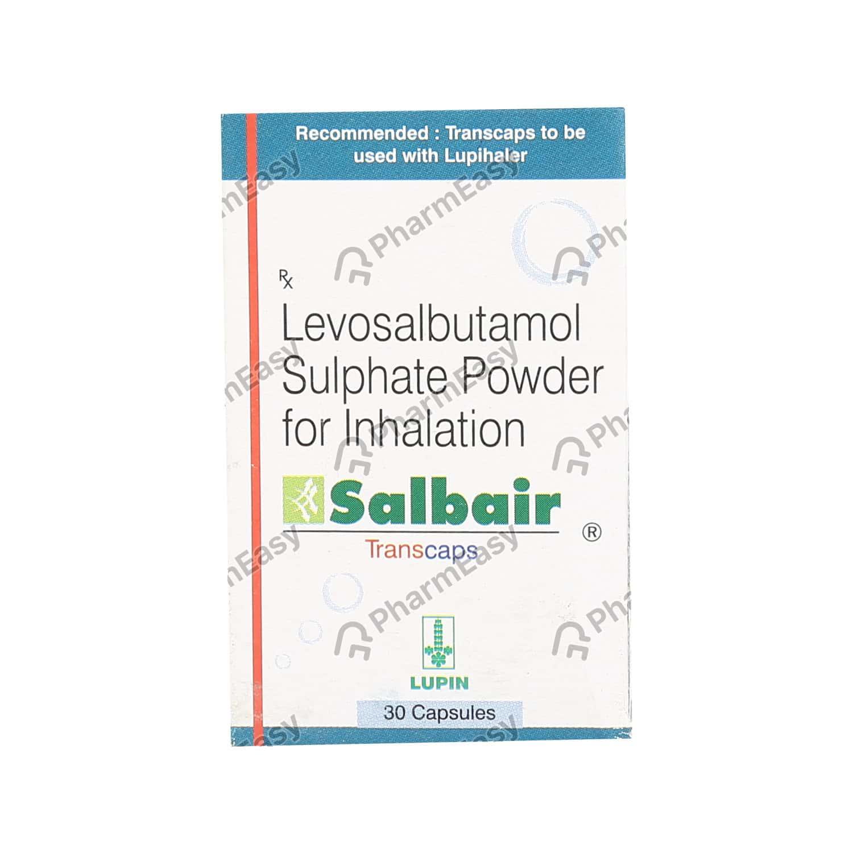Salbair 100mcg Bottle Of 30 Transcaps
