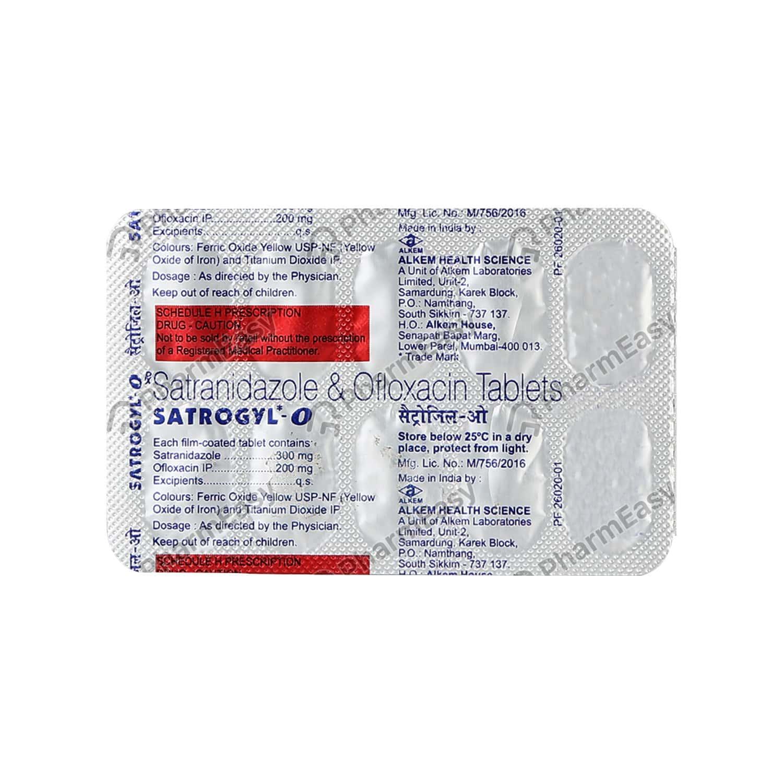Satrogyl O Tablet