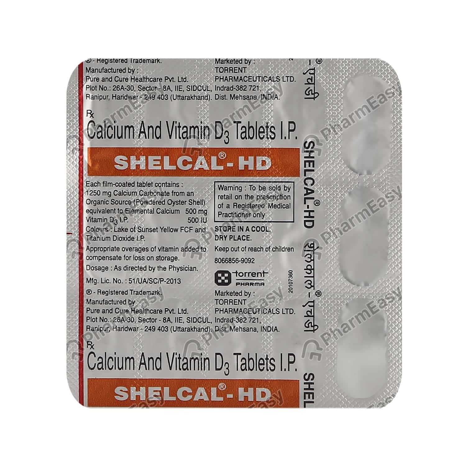 Shelcal Hd Strip Of 15 Tablets