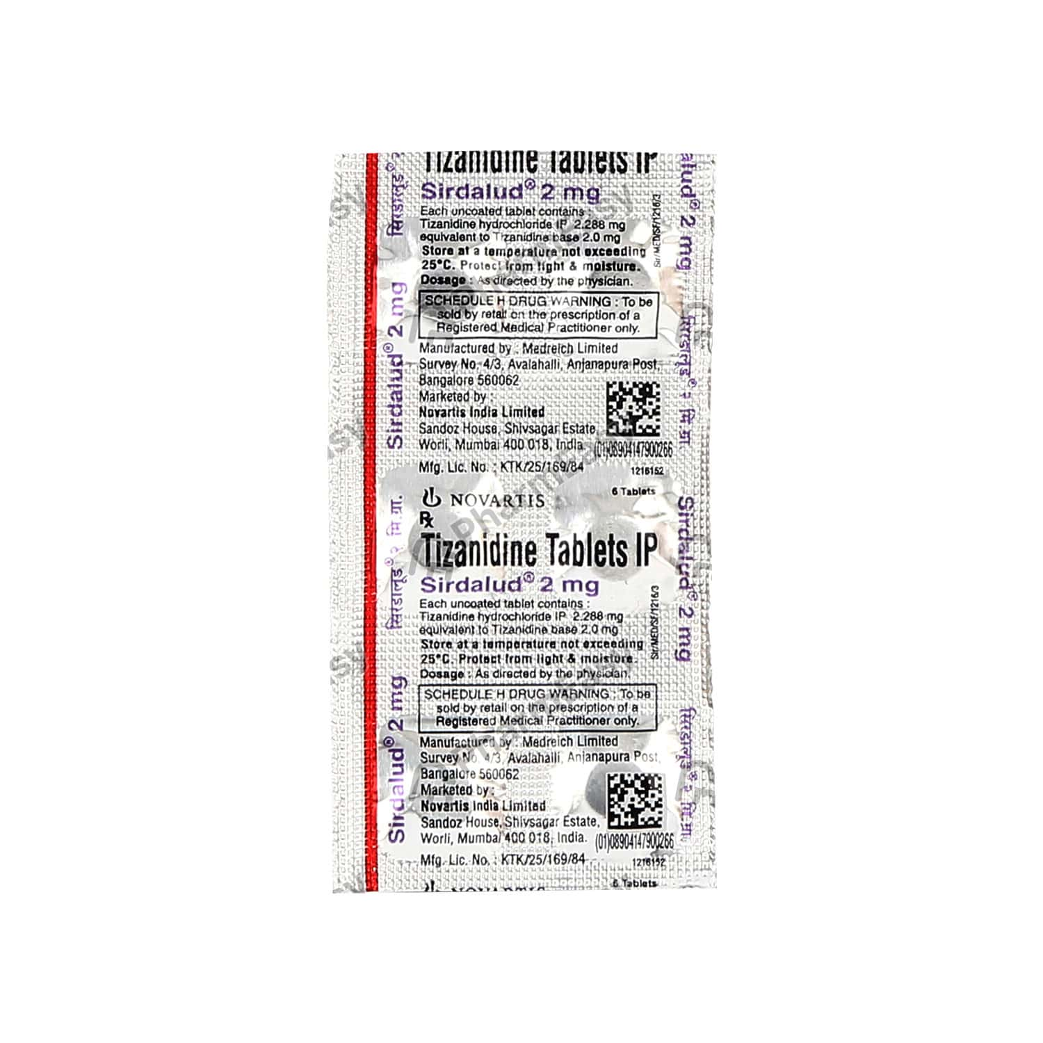 Sirdalud 2mg Tablet