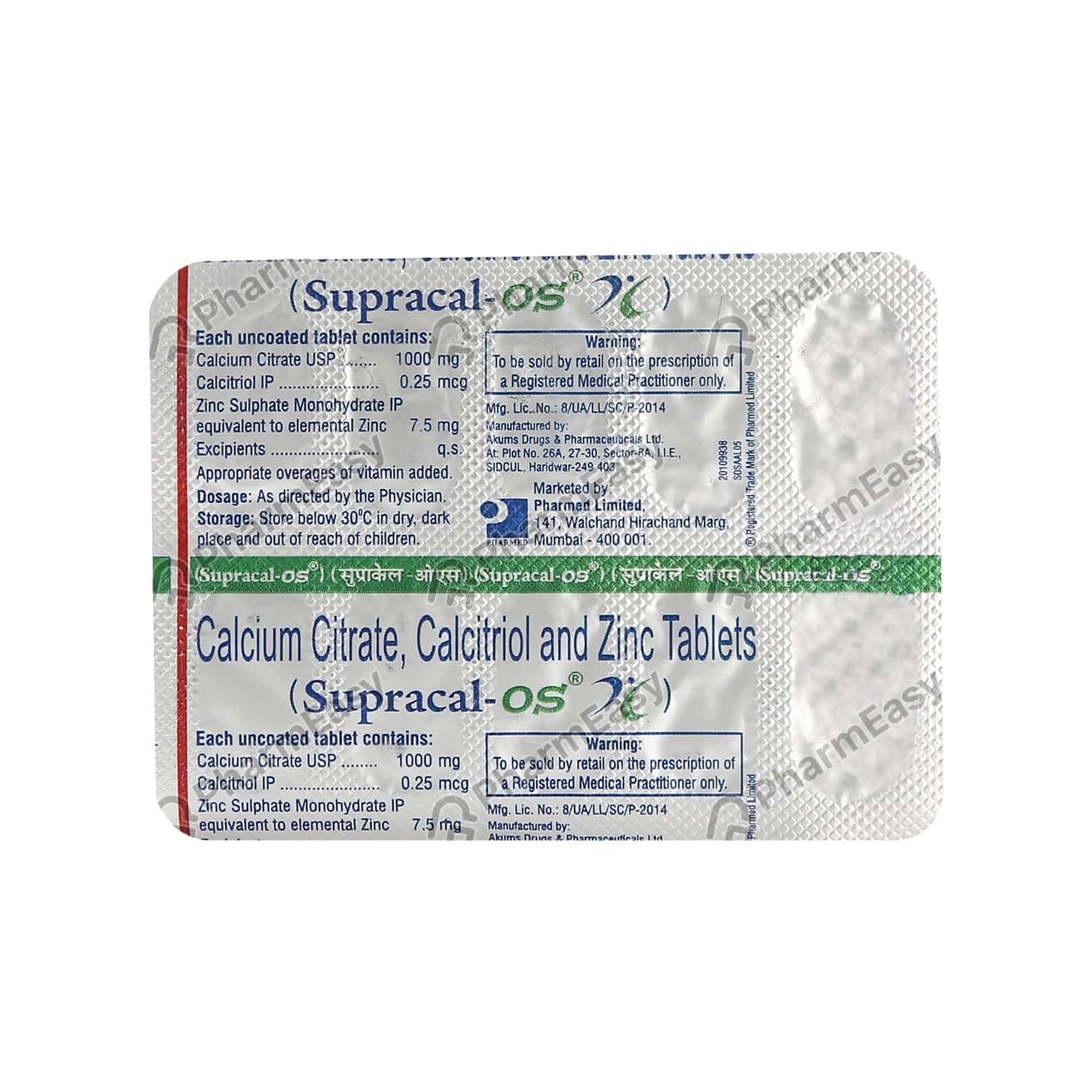 Supracal Os Strip Of 10 Tablets