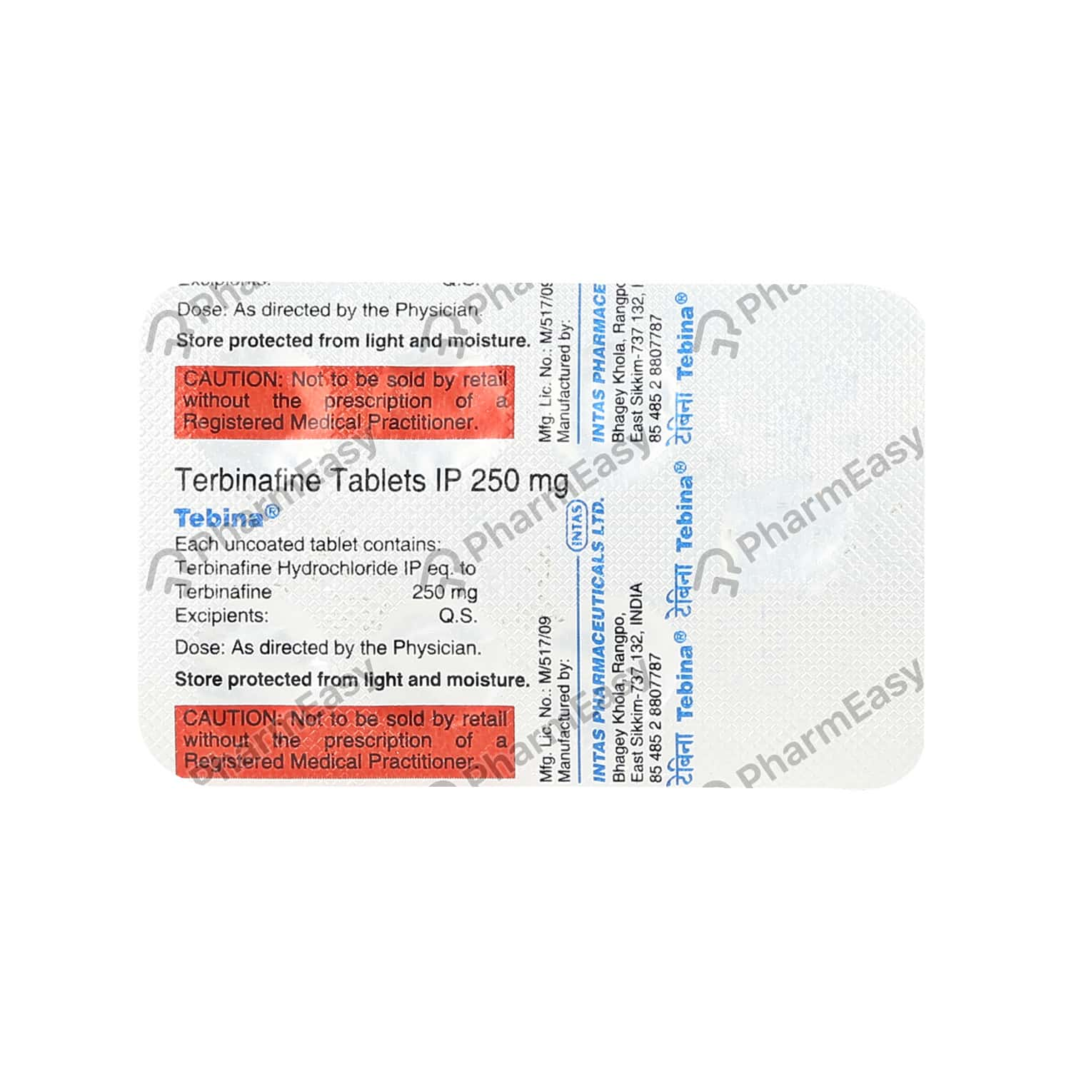 Tebina 250mg Tablet