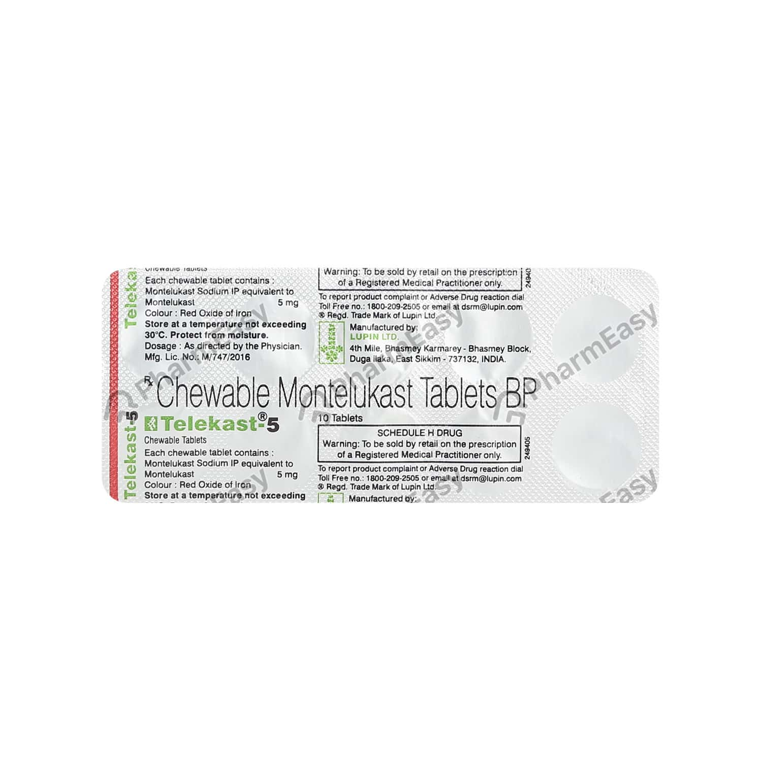 Telekast 5mg Tablet