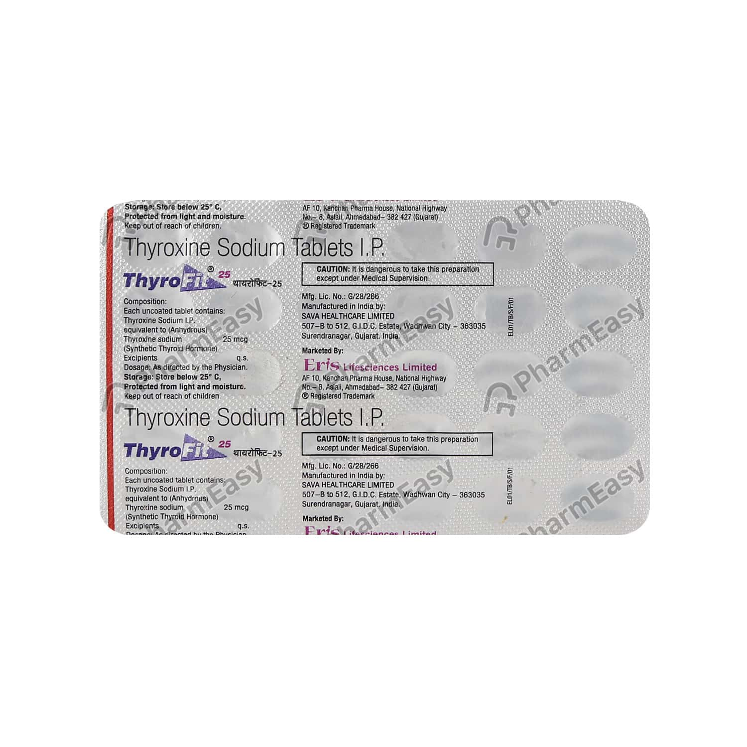 Thyrofit 25mcg Tablet