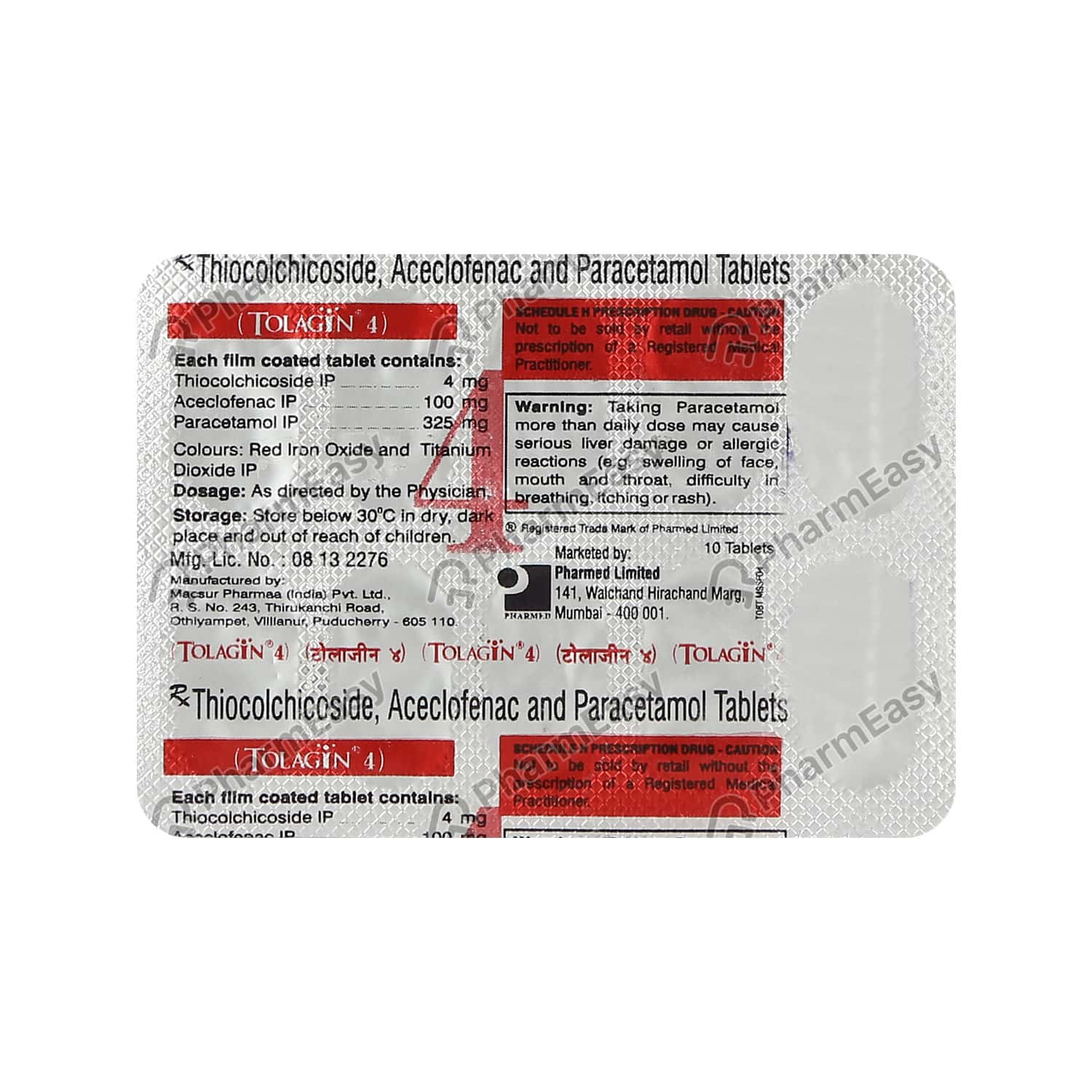 Tolagin 4mg Strip Of 10 Tablets