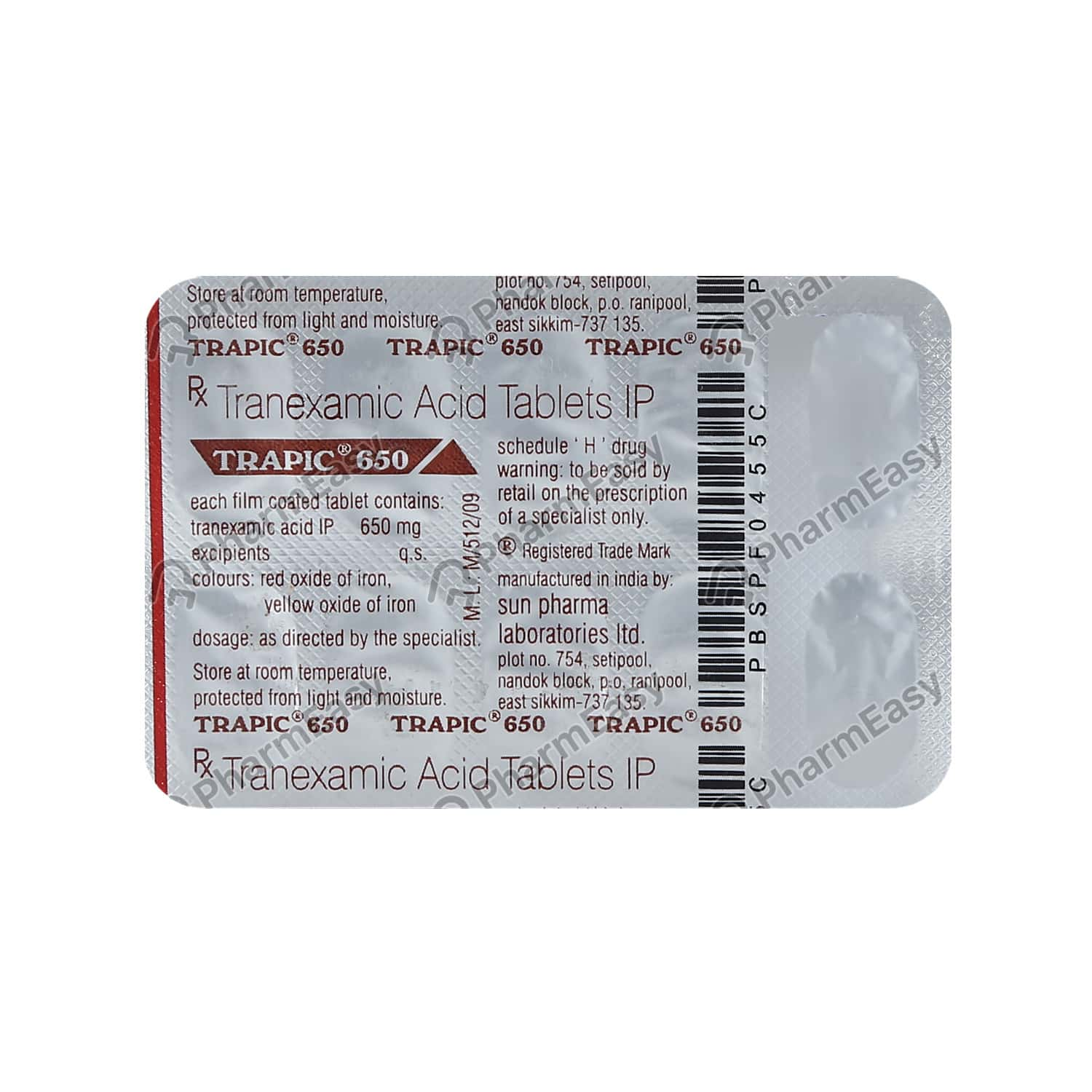 Trapic 650mg Strip Of 10 Tablets