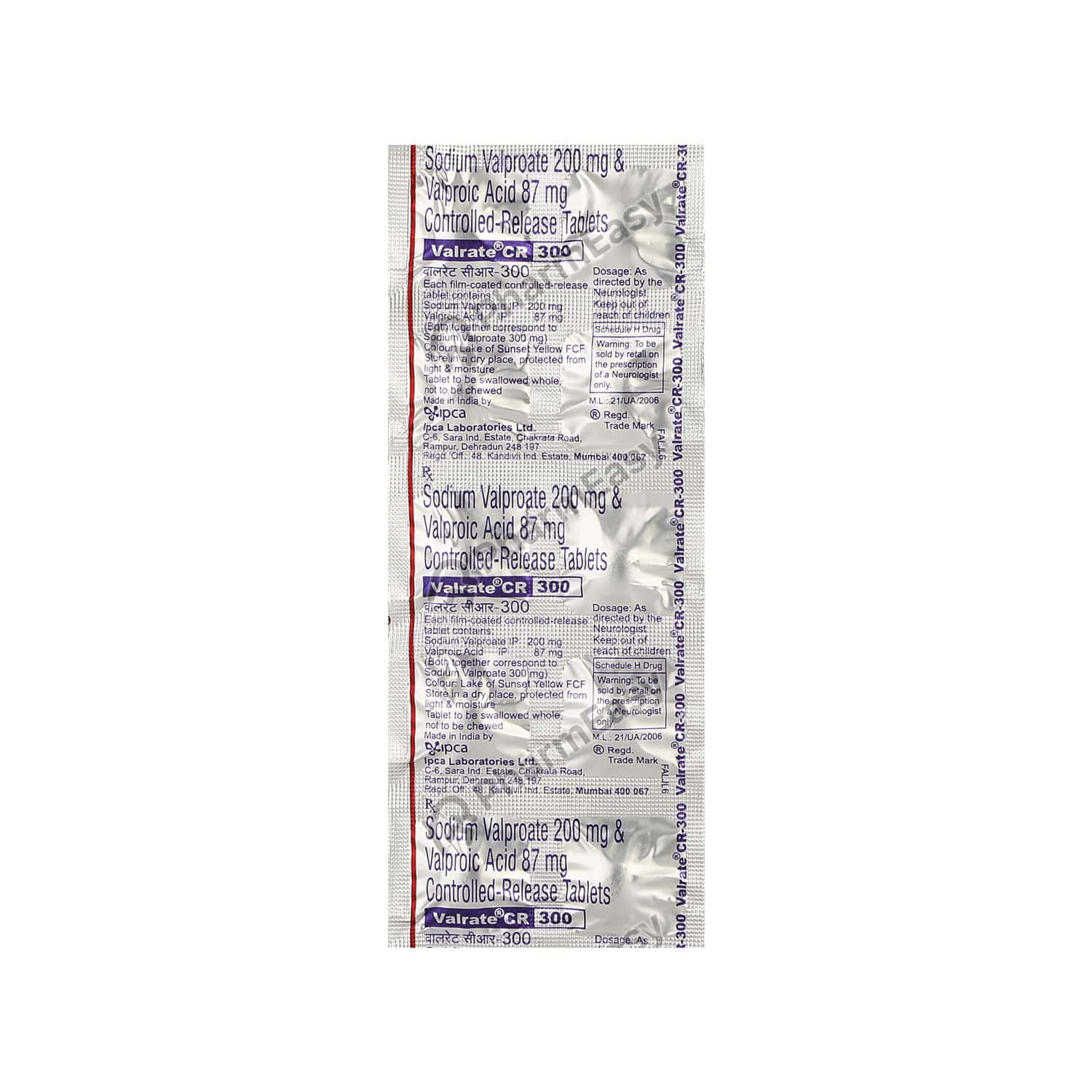 Valrate Cr 300mg Tablet