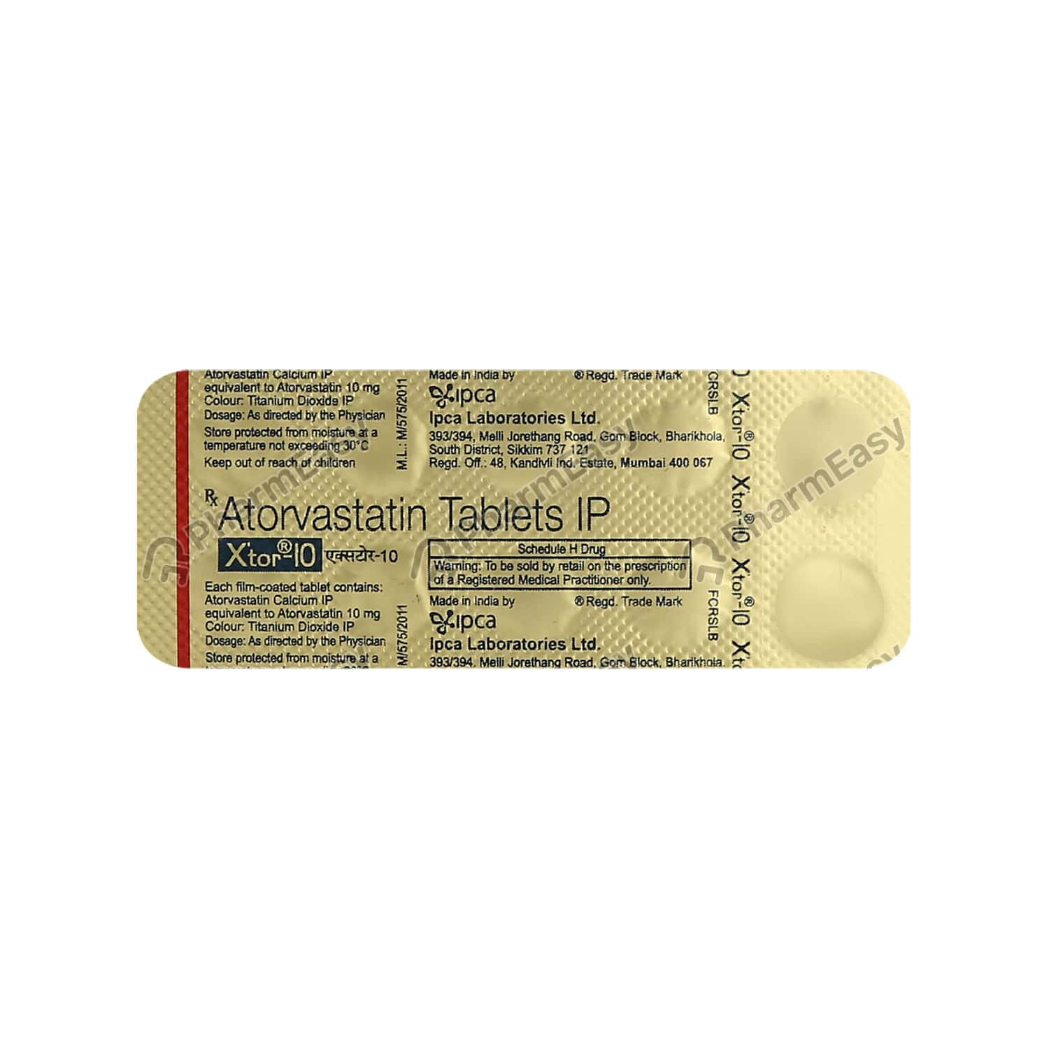 Xtor 10mg Strip Of 10 Tablets
