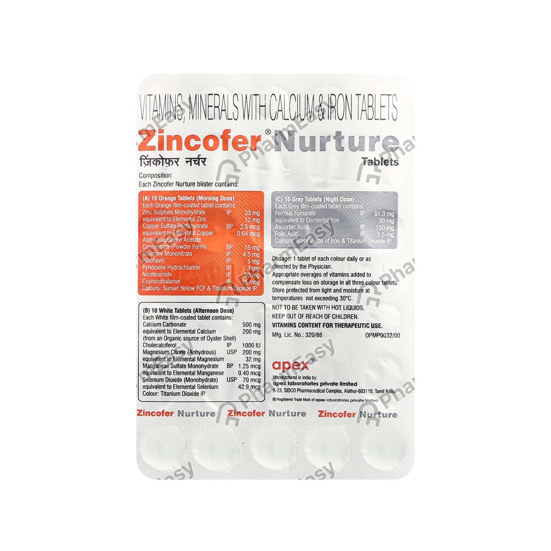 Zincofer Nurture Tab