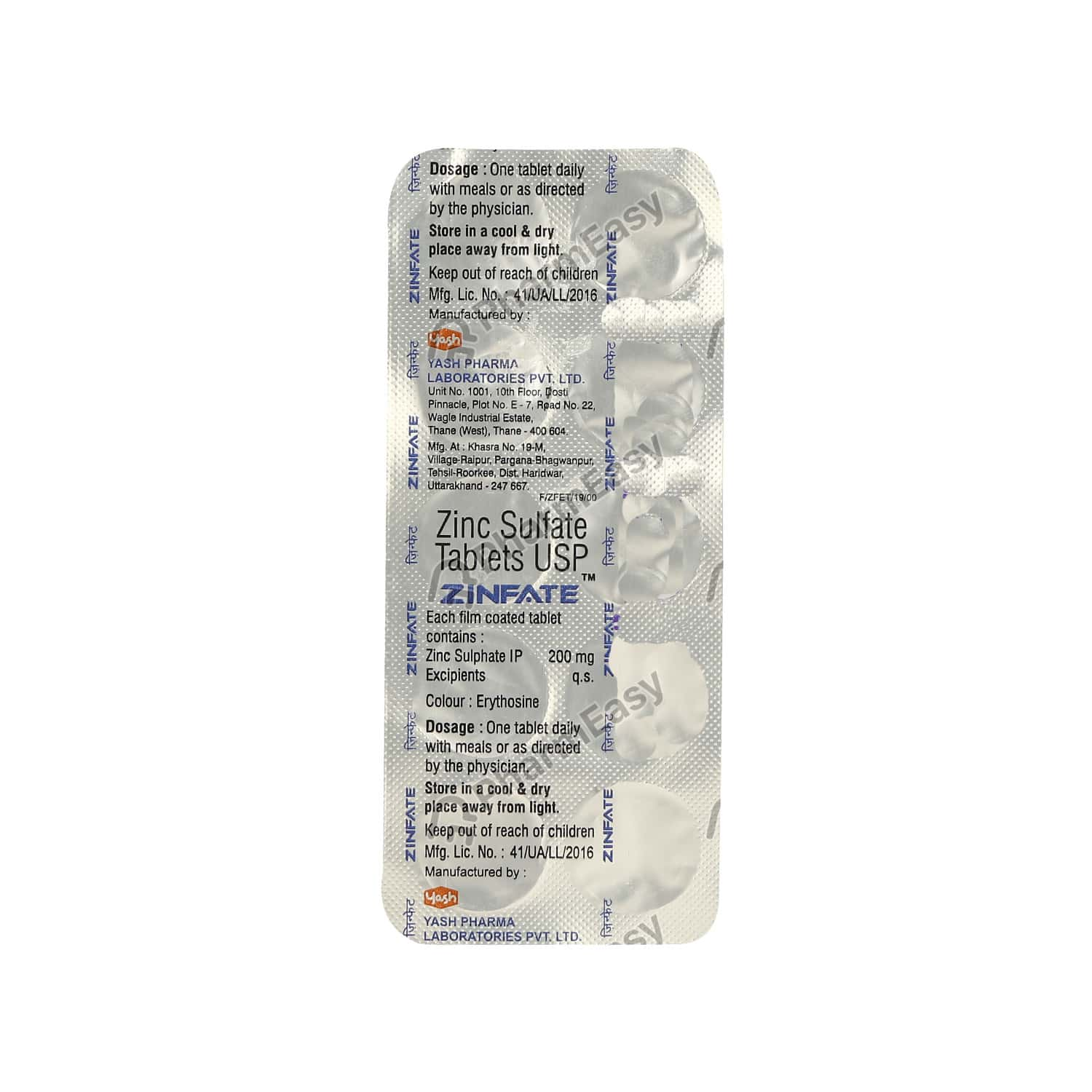 Zinfate 200mg Tablet