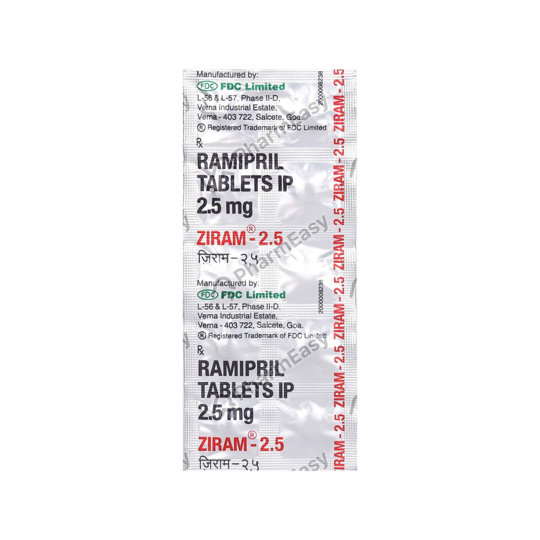 Ziram 2.5mg Strip Of 10 Tablets