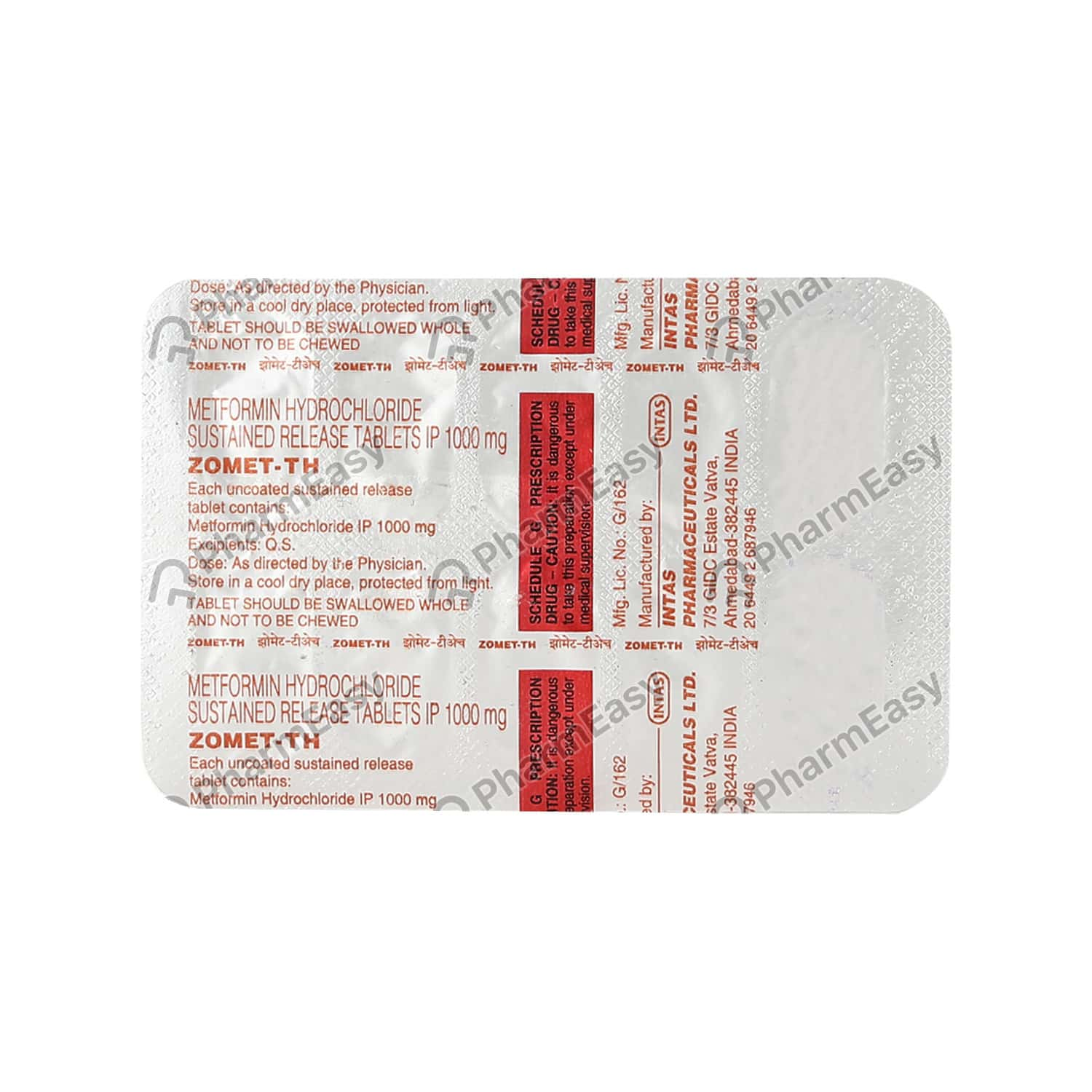 Zomet Th 1000mg Strip Of 10 Tablets