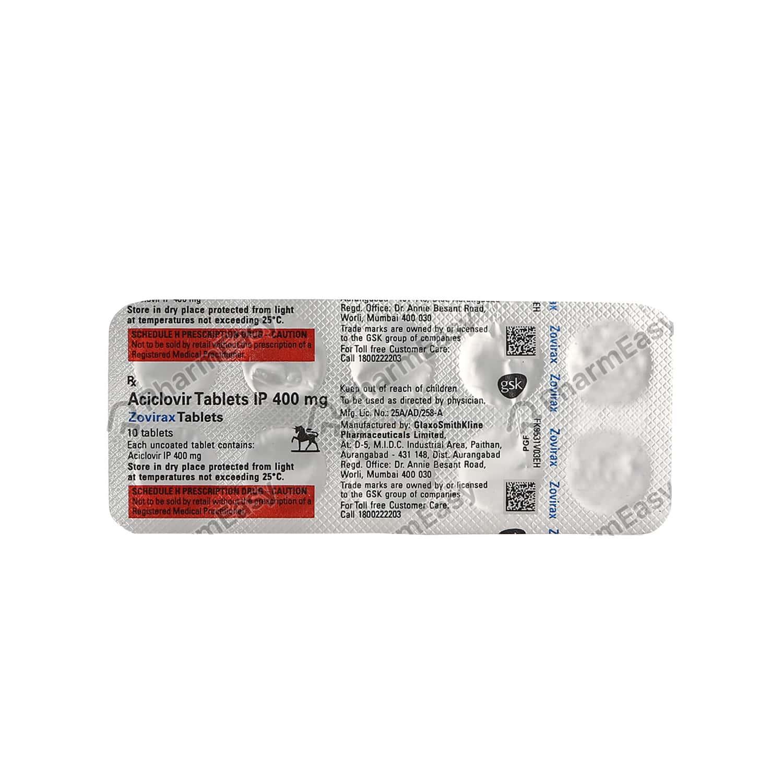 Zovirax 400mg Tablet