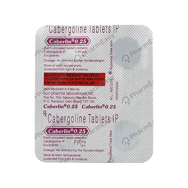 Caberlin 0.25mg Tablet