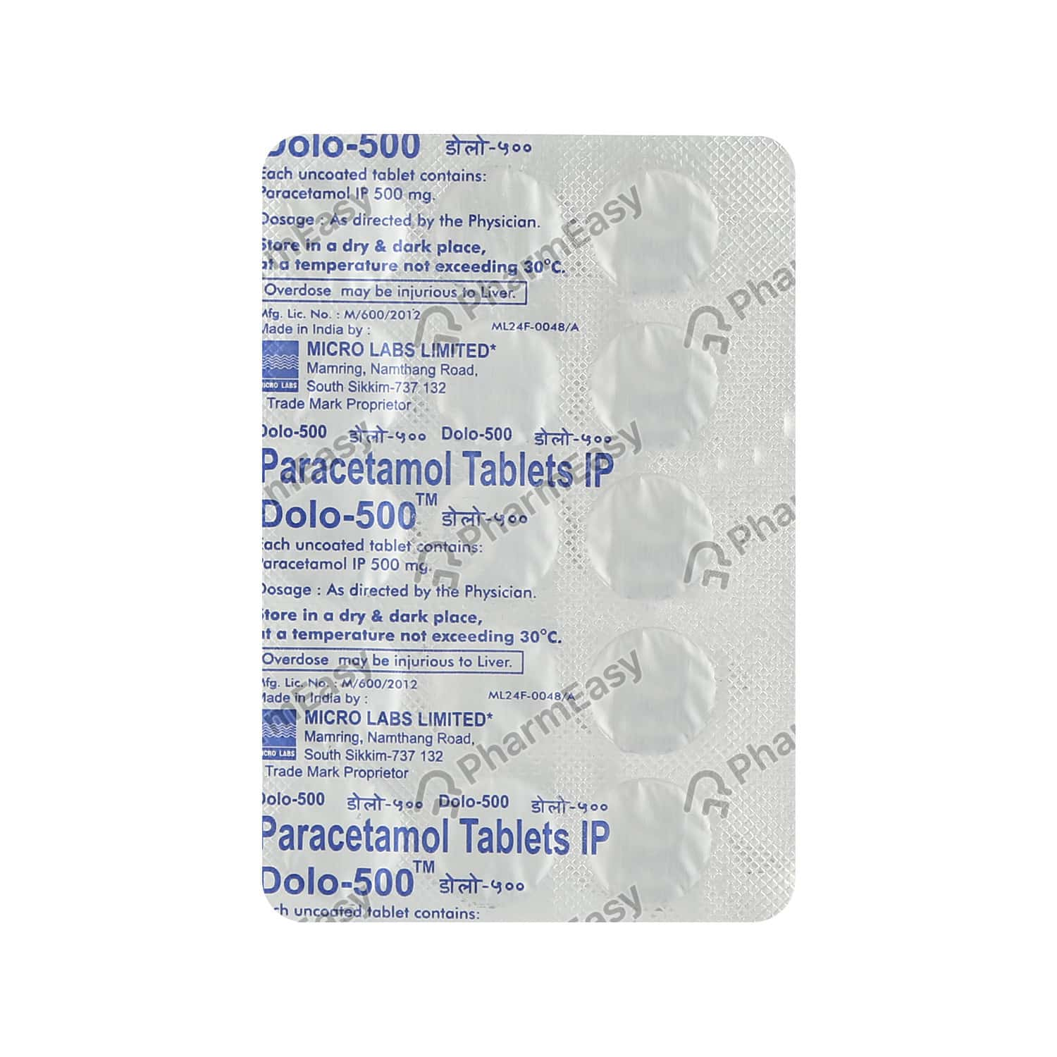Dolo 500mg Tablet