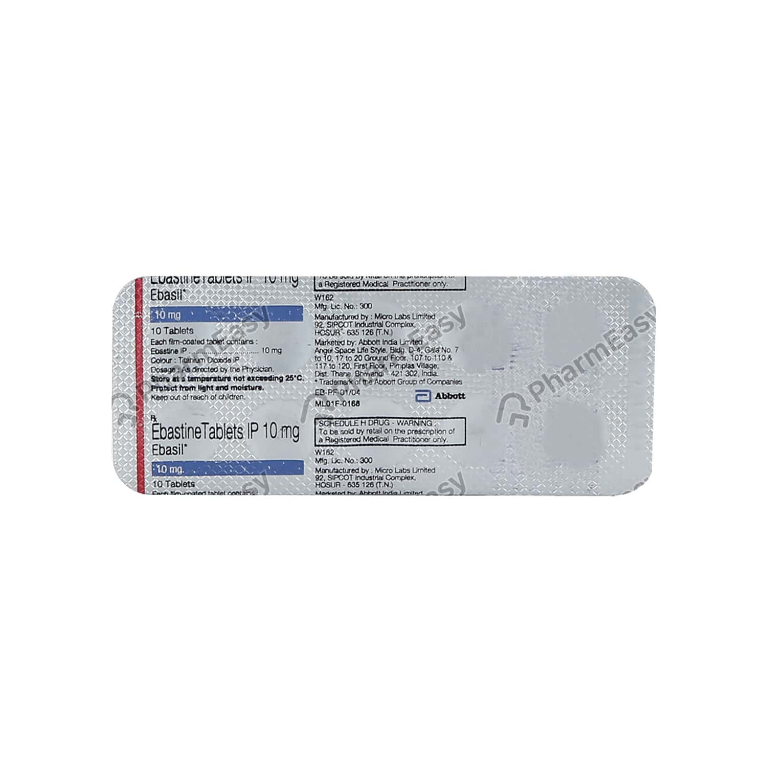 Ebasil 10mg Tablet