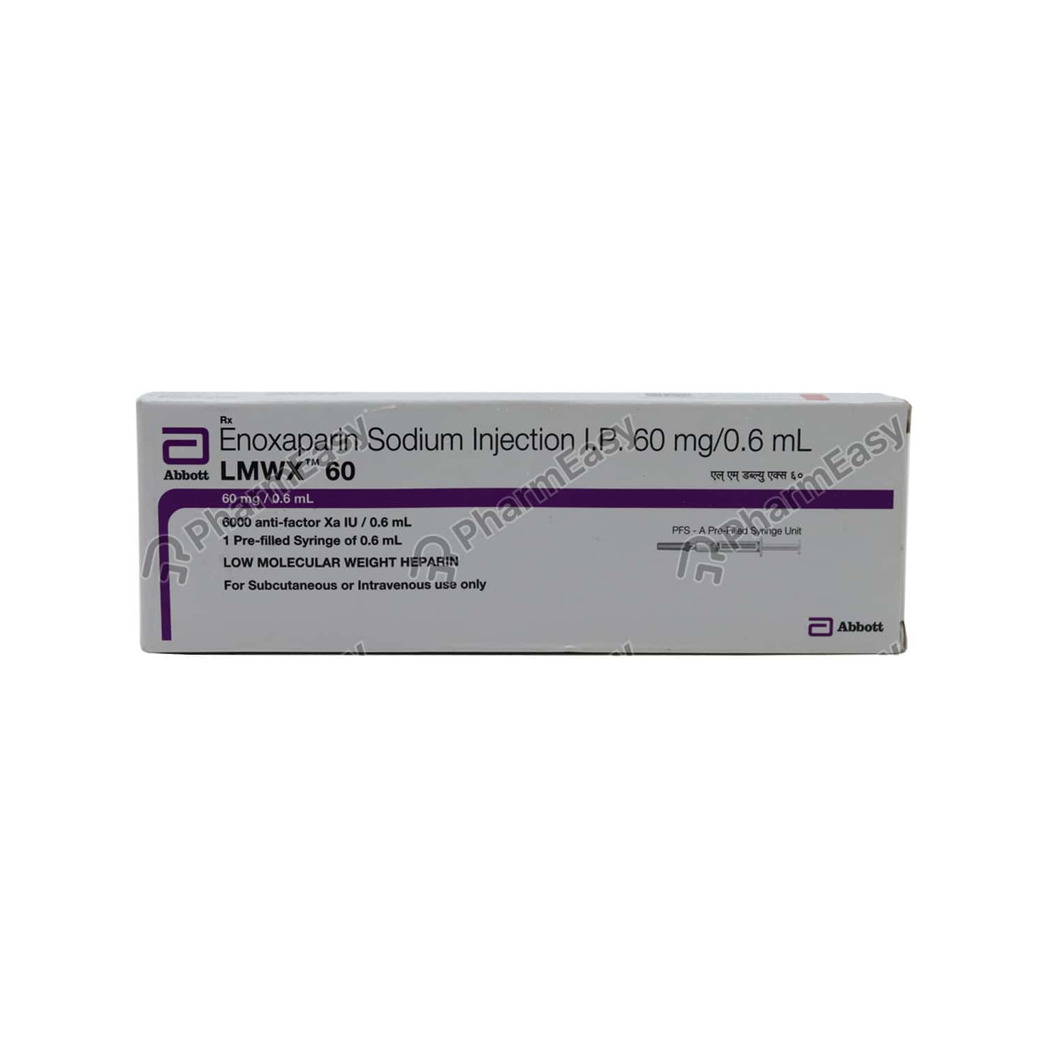 Lmwx 60mg Pre Filled Syringe Of 0.6ml Injection